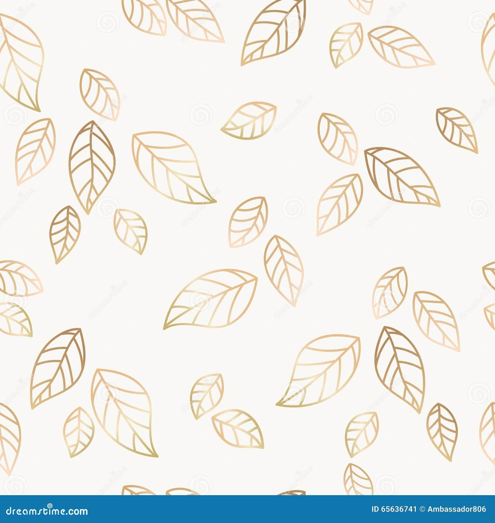 Vecteur en baisse d or de feuilles