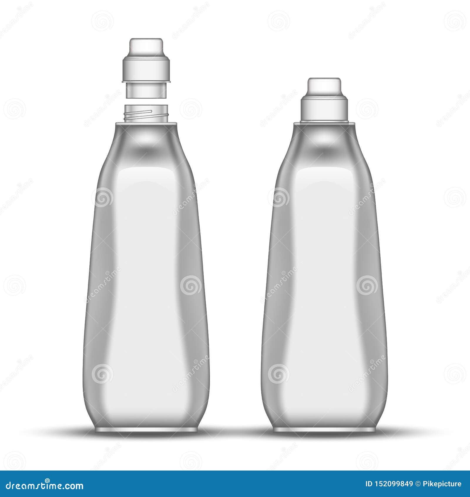 Vecteur en plastique de bouteille d agent de blanchiment vide de vaisselle