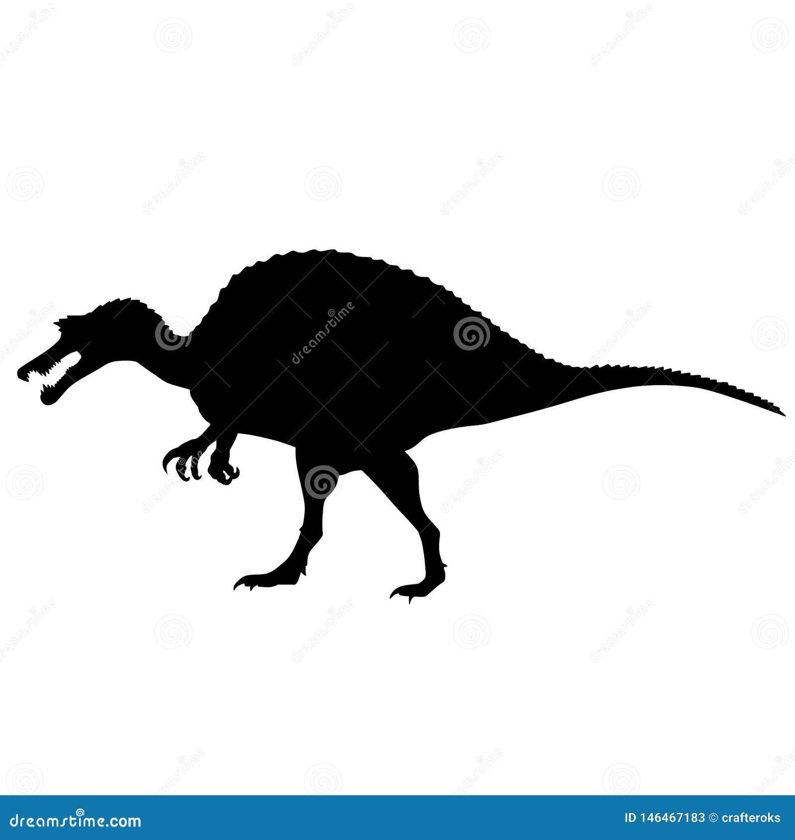 Vecteur ENV tir? par la main, vecteur, ENV, logo, ic?ne, crafteroks, illustration de dinosaure de Dino de silhouette pour diff?re