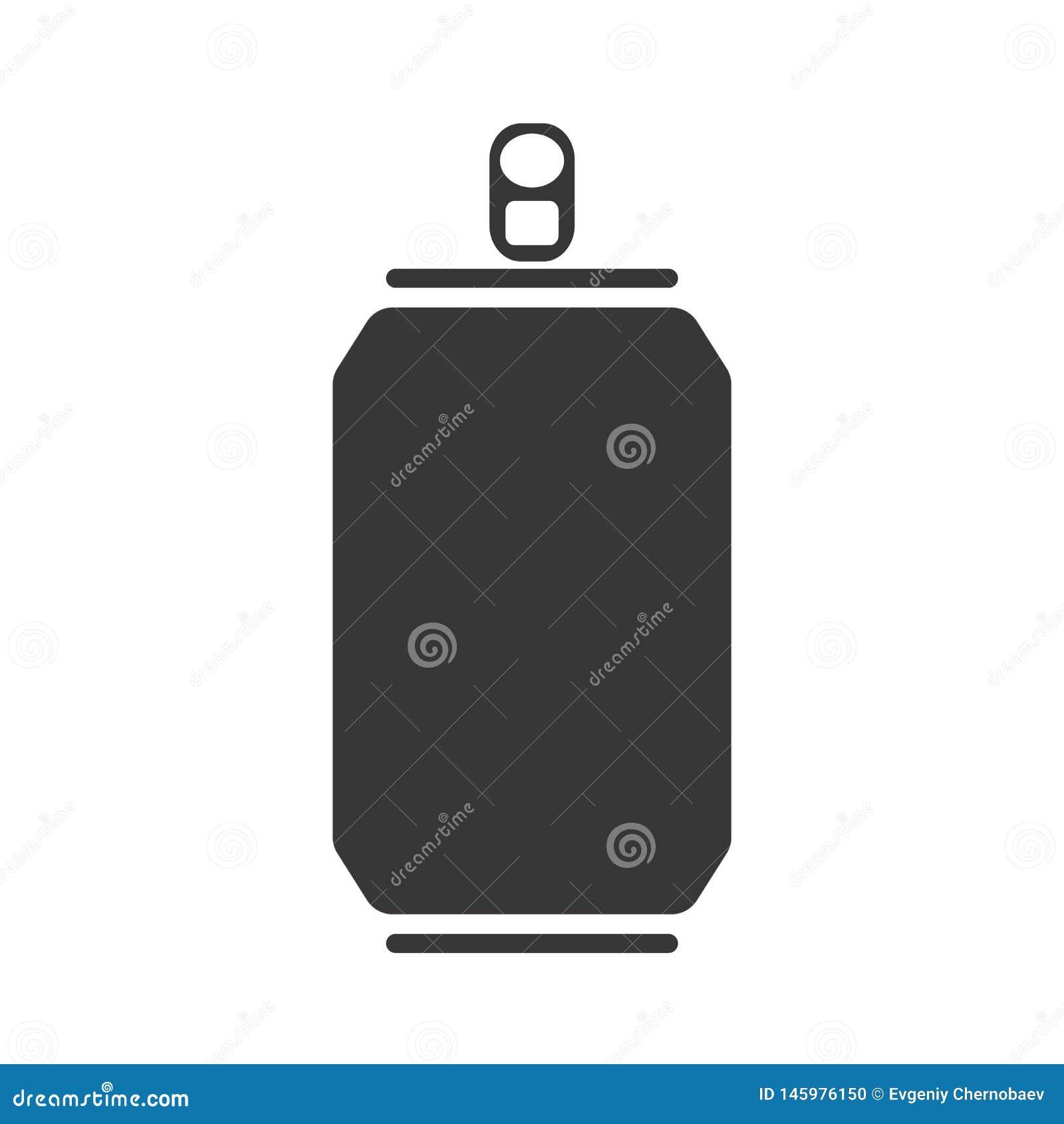 Vecteur eps10 d icône de Grey Can La limonade peut diriger eps10