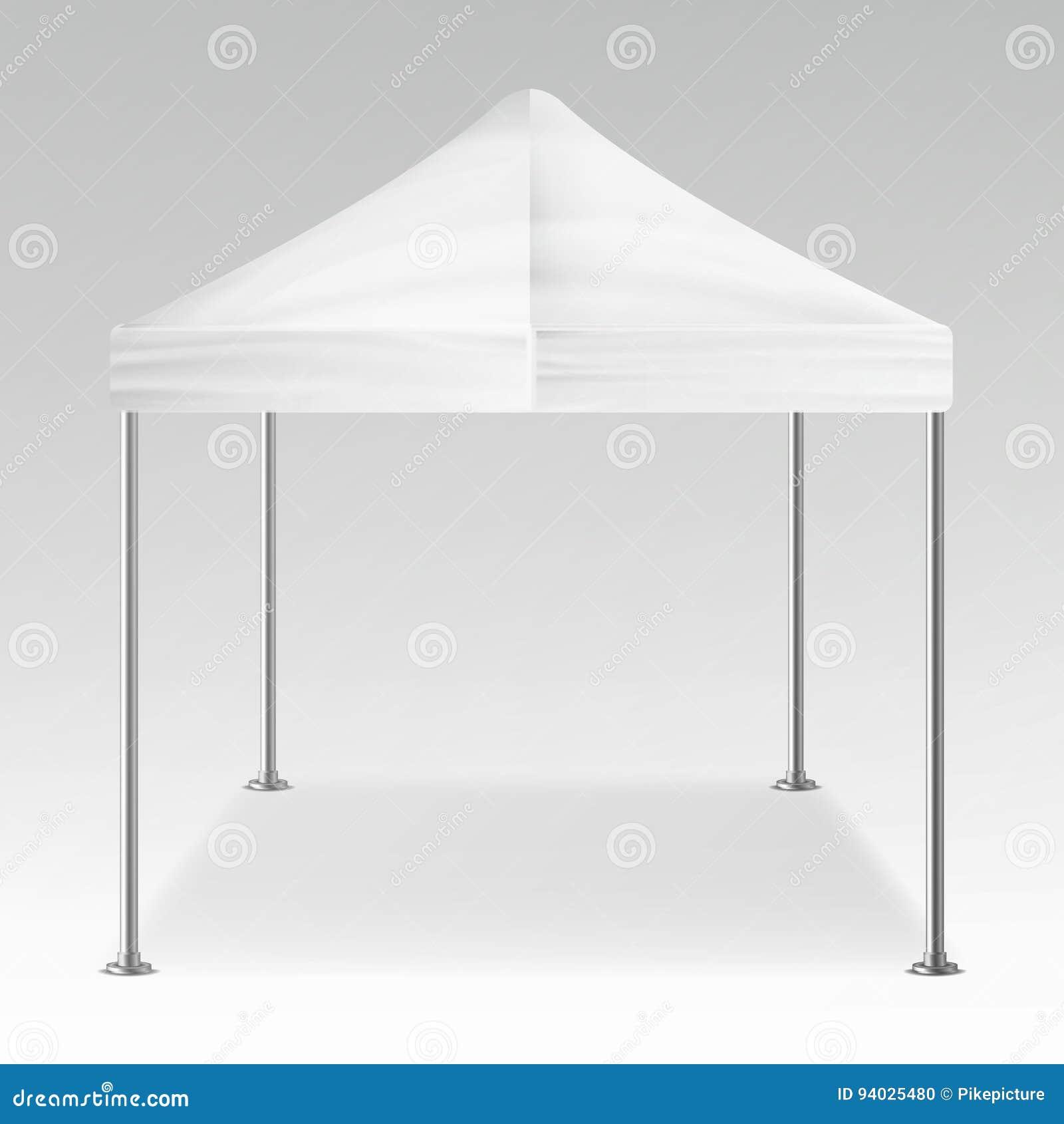 Vecteur extérieur se pliant blanc de pavillon de tente Blanc réaliste de calibre pour l exposition, l exposition, la partie ou le