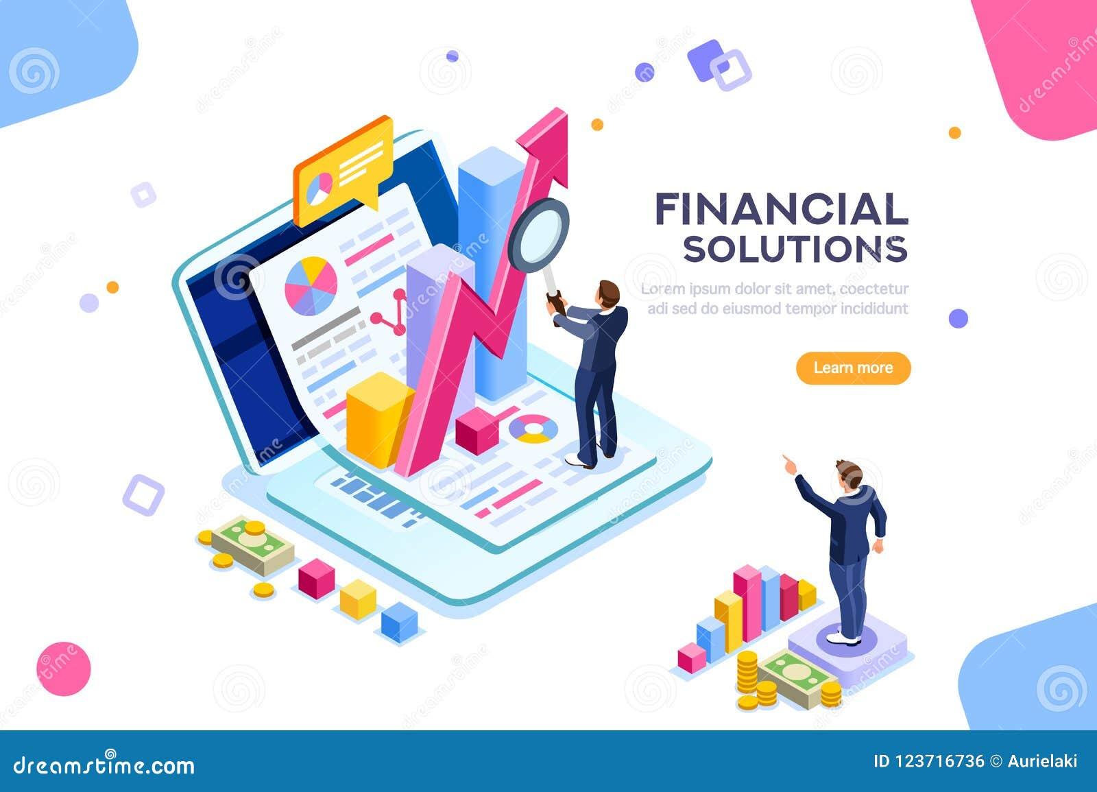 Vecteur financier de concept de technique de la gestion