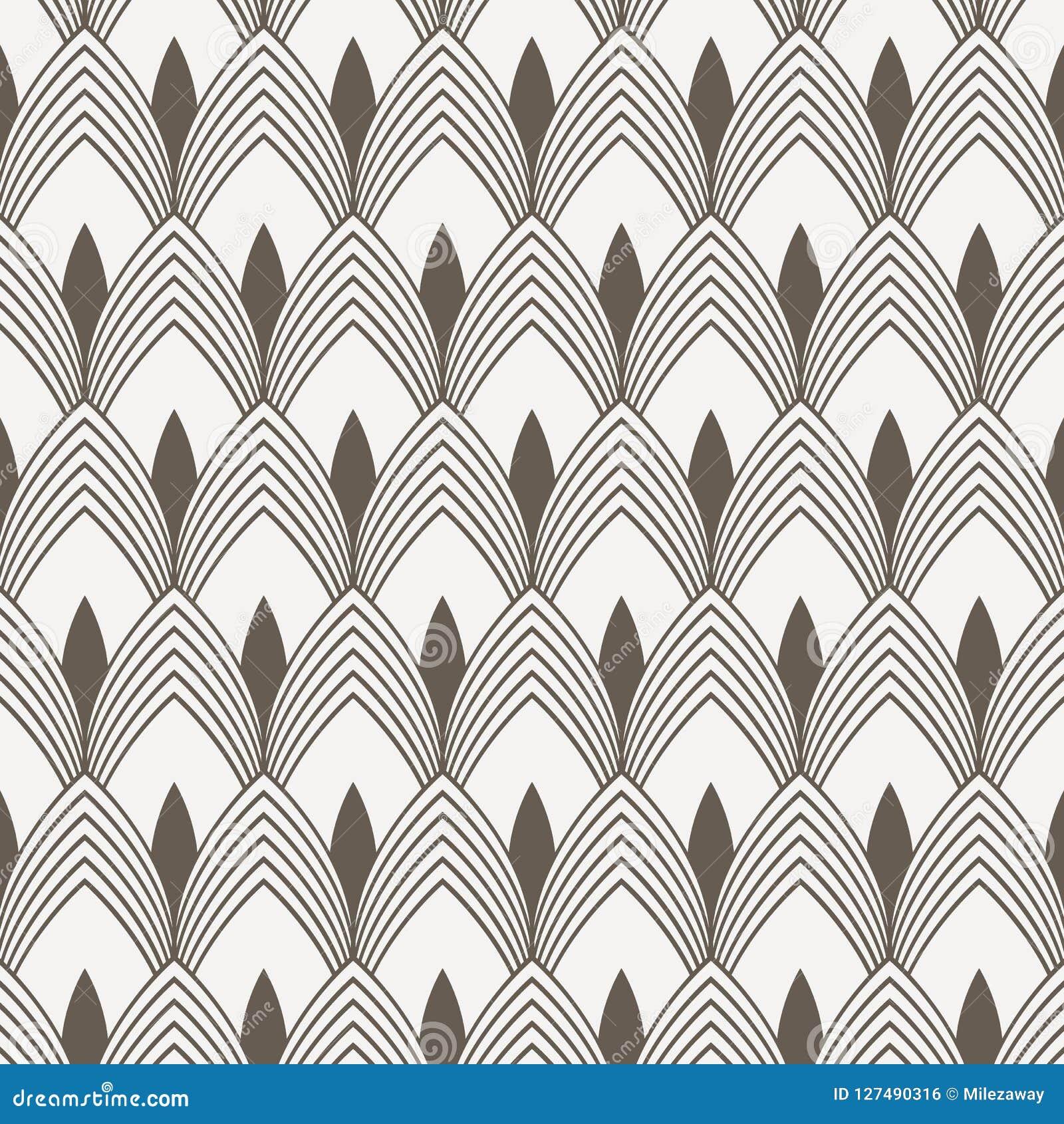 Vecteur géométrique de modèle Copie simple géométrique de tissu de mode Vecteur répétant la texture de tuile Thème génial de reco