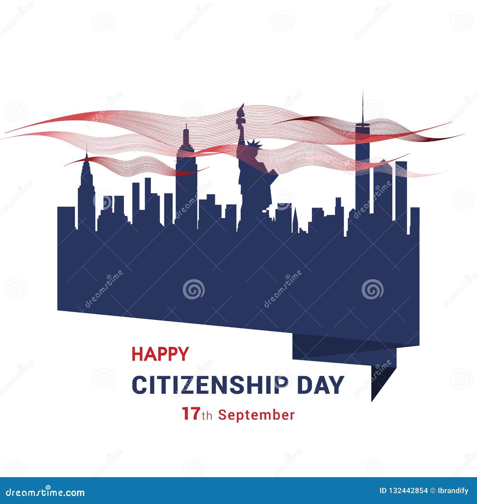 Vecteur heureux de conception de citoyenneté