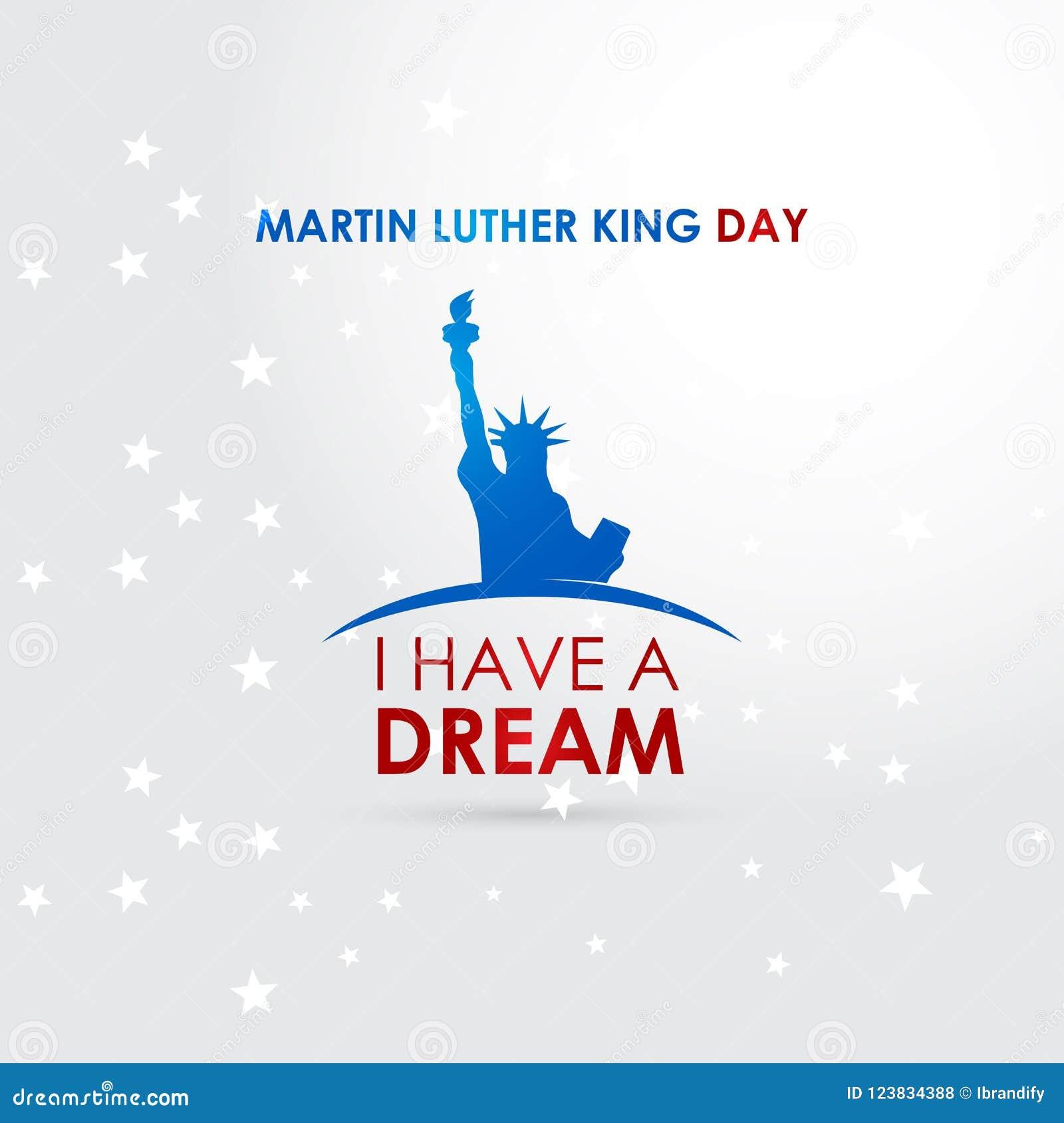 Vecteur heureux de conception de jour de Martin Luther King