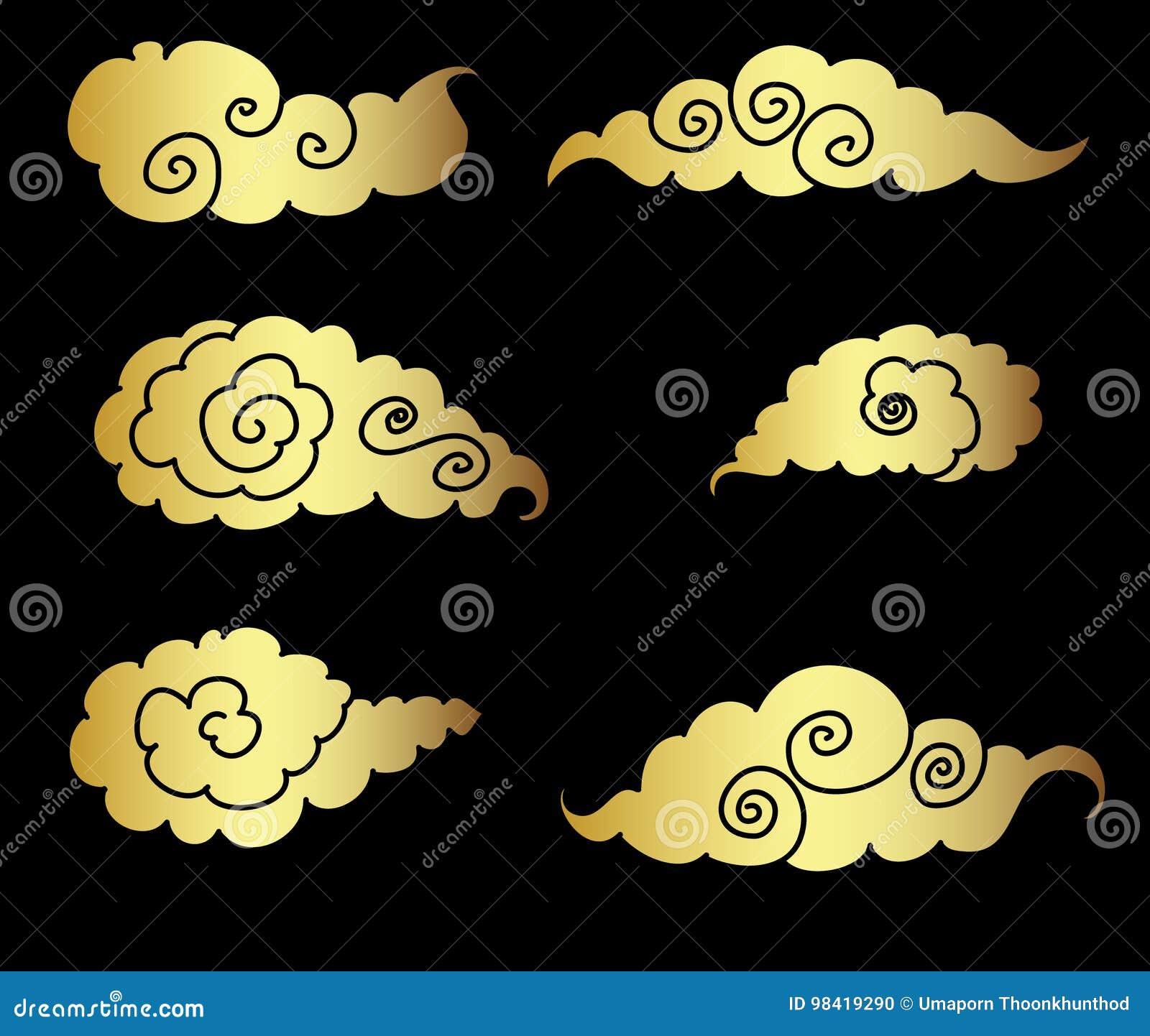 tatouage nuage japonais. Black Bedroom Furniture Sets. Home Design Ideas