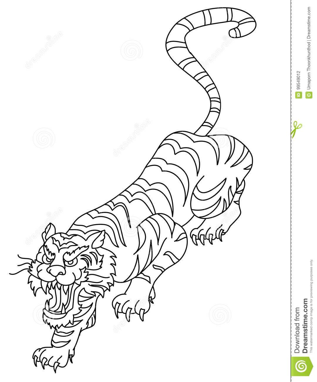 Vecteur Japonais De Conception De Tatouage De Tigre Illustration De