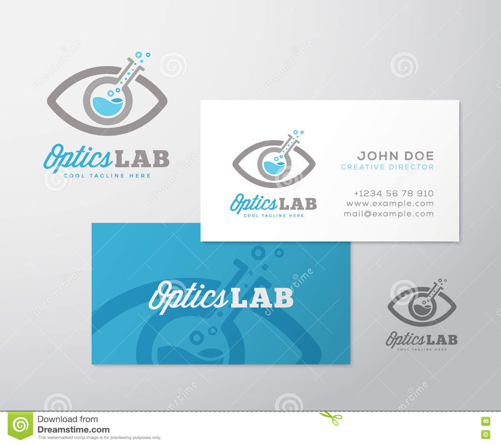 Vecteur Logo Template D Abrege Sur Laboratoire Optique Et Disposition De Carte Visite Professionnelle