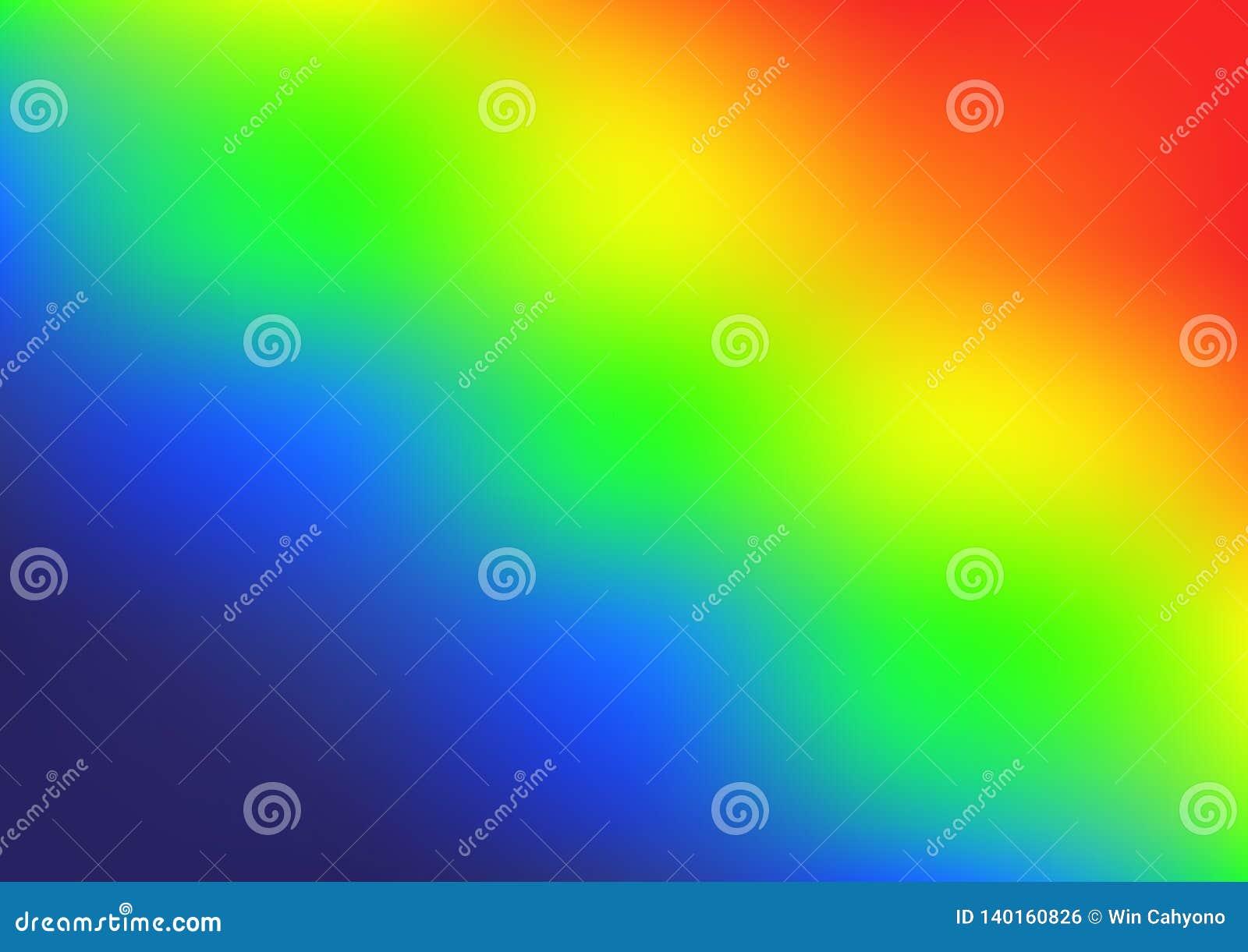 Vecteur lumineux de gradient de couleurs d arc-en-ciel