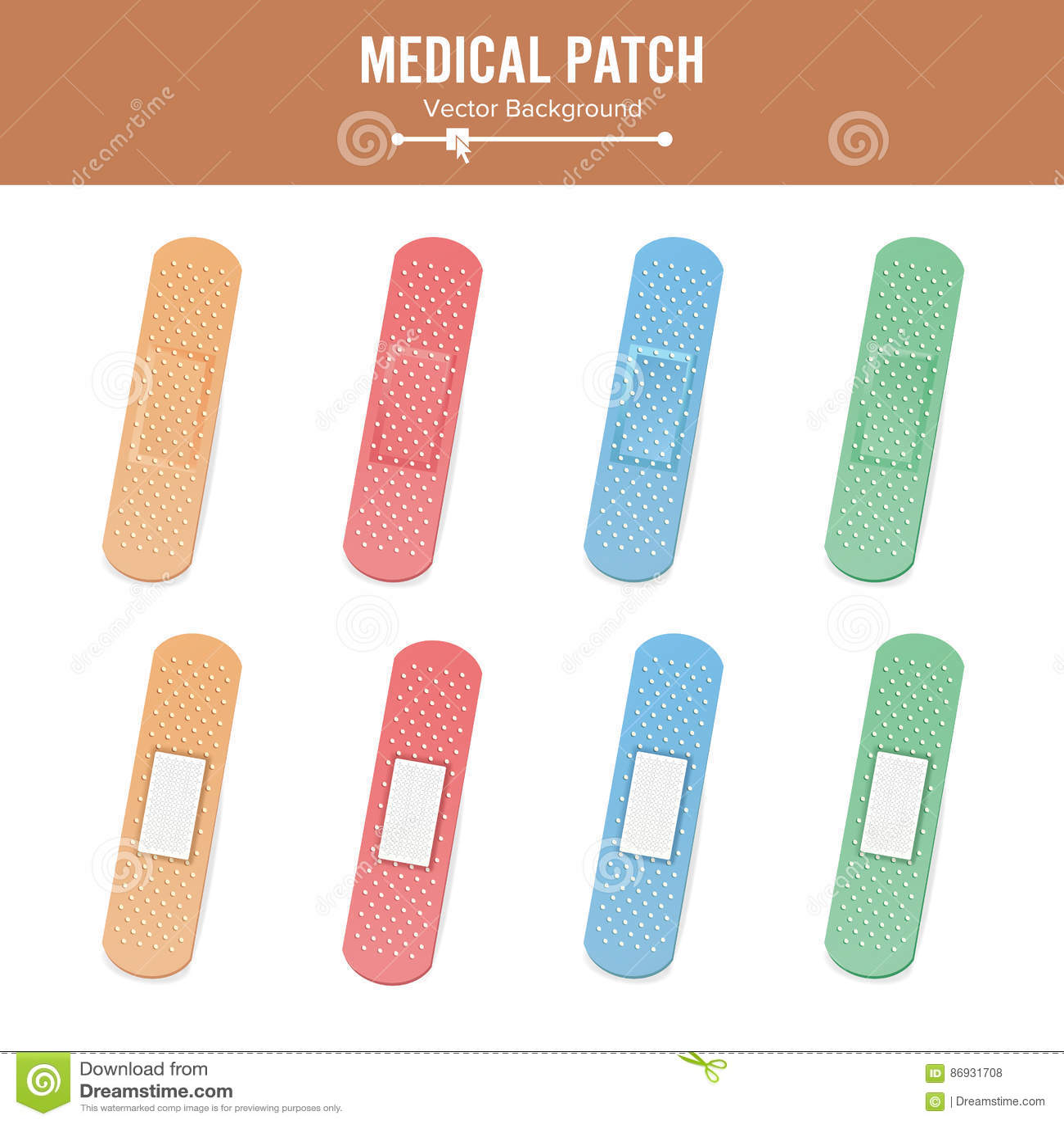 vecteur médical de correction deux côtés le plâtre imperméable