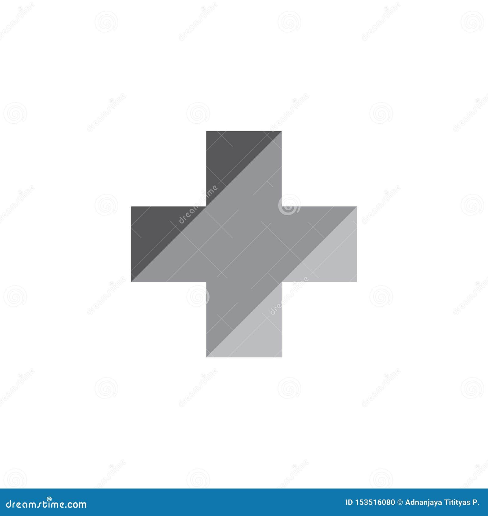 Vecteur médical plus de logo de gradient