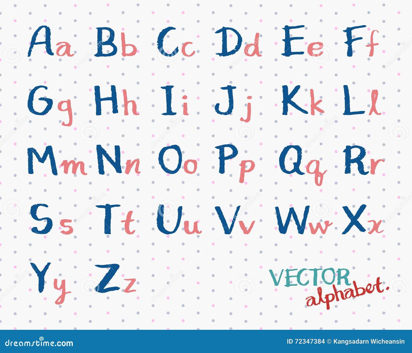 Extrêmement Majuscules D'alphabet Manuscrit Illustration de Vecteur - Image  PH41