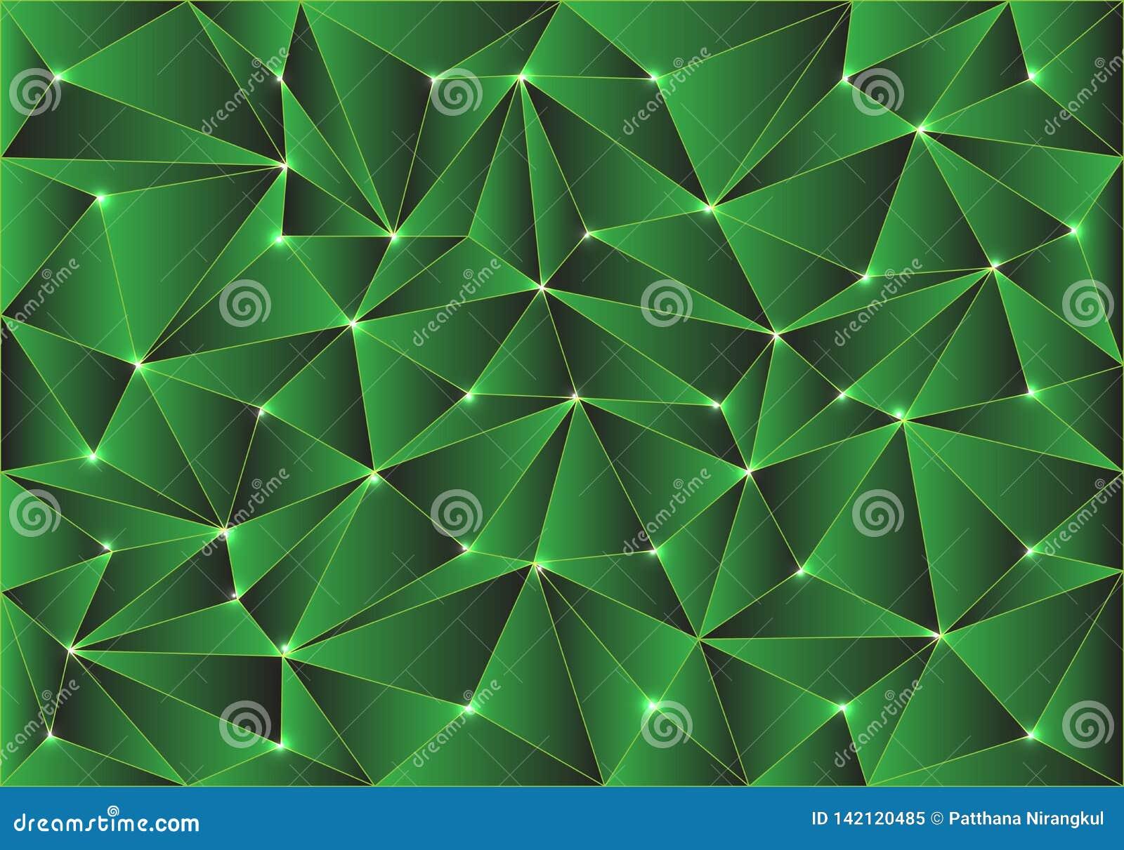 Vecteur moderne de texture de fond de polygone de vert de résumé de conception brillante de modèle