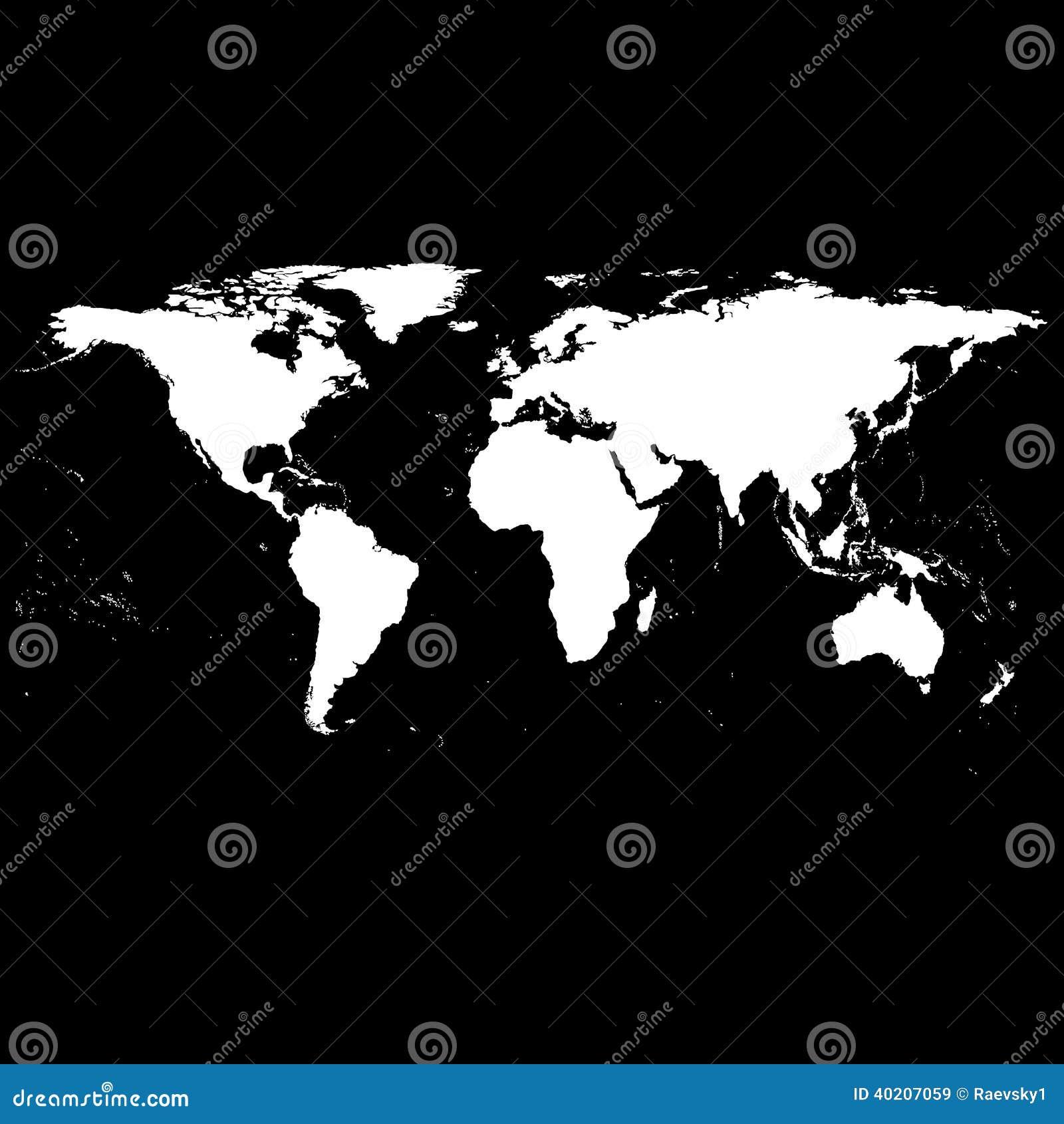 vecteur noir de carte du monde illustration de vecteur image 40207059. Black Bedroom Furniture Sets. Home Design Ideas