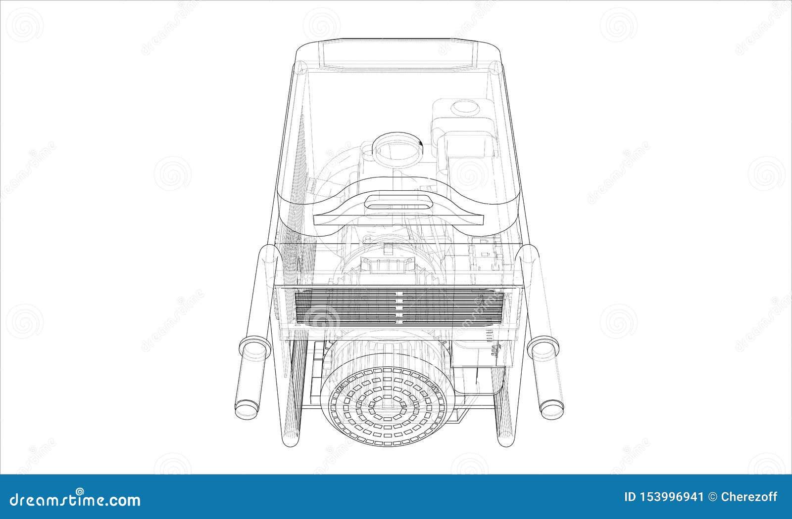 Vecteur portatif de générateur d essence d ensemble