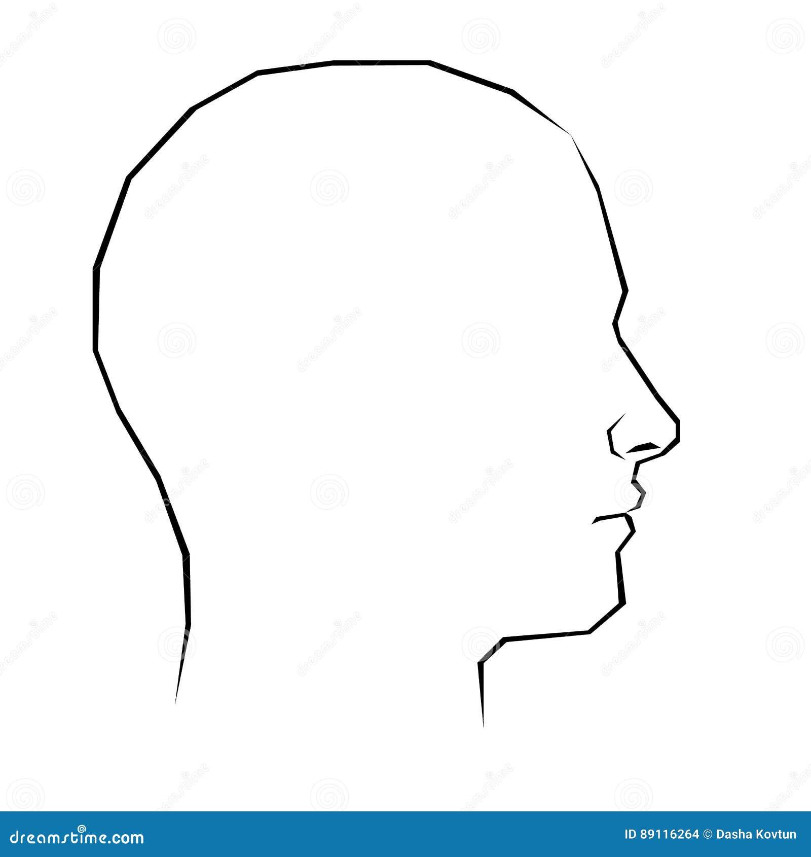 Vecteur principal de personne de visage de profil de silhouette d 39 illustration illustration de - Visage profil dessin ...
