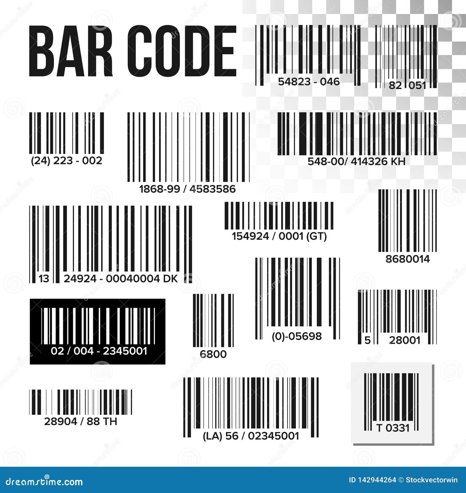 Vecteur réglé de code barres Balayage des prix Label de produit Scanner de l information UPC Lecteur de Digital Signe d identific