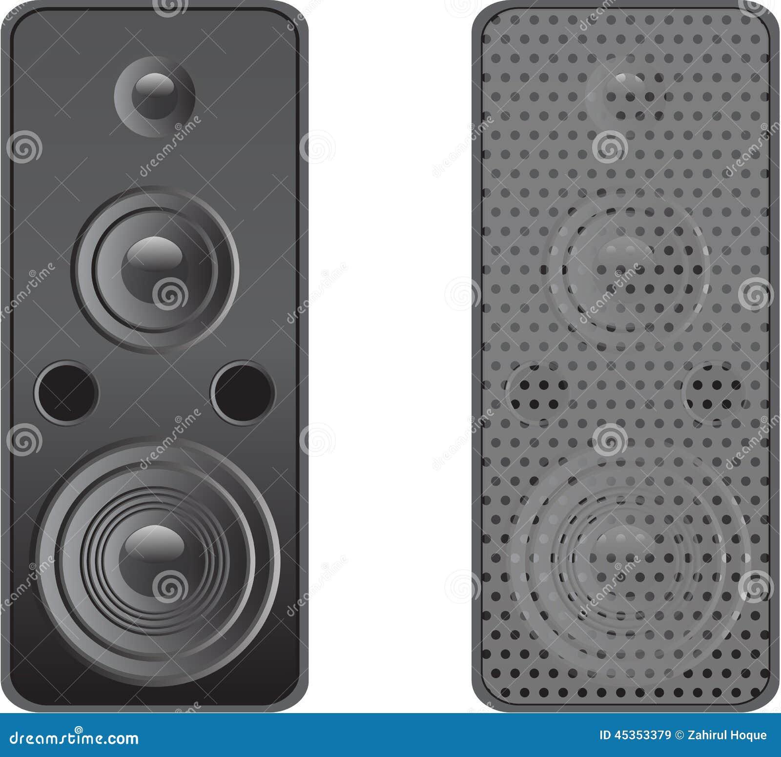 Vecteur réglé de haut-parleur
