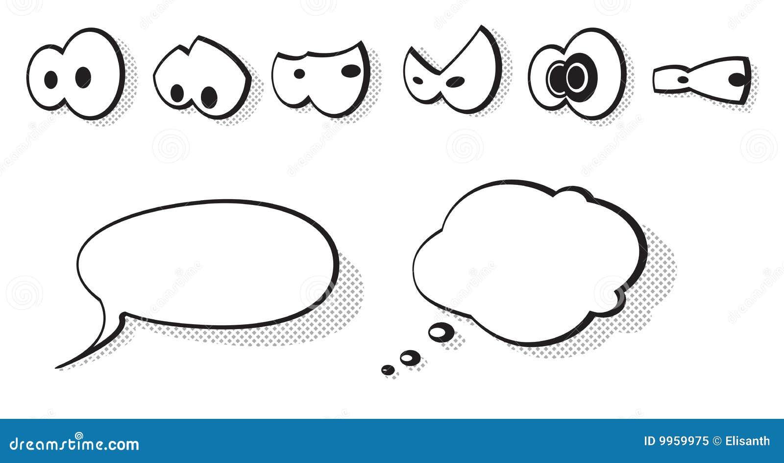 Vecteur réglé par yeux de dessin animé
