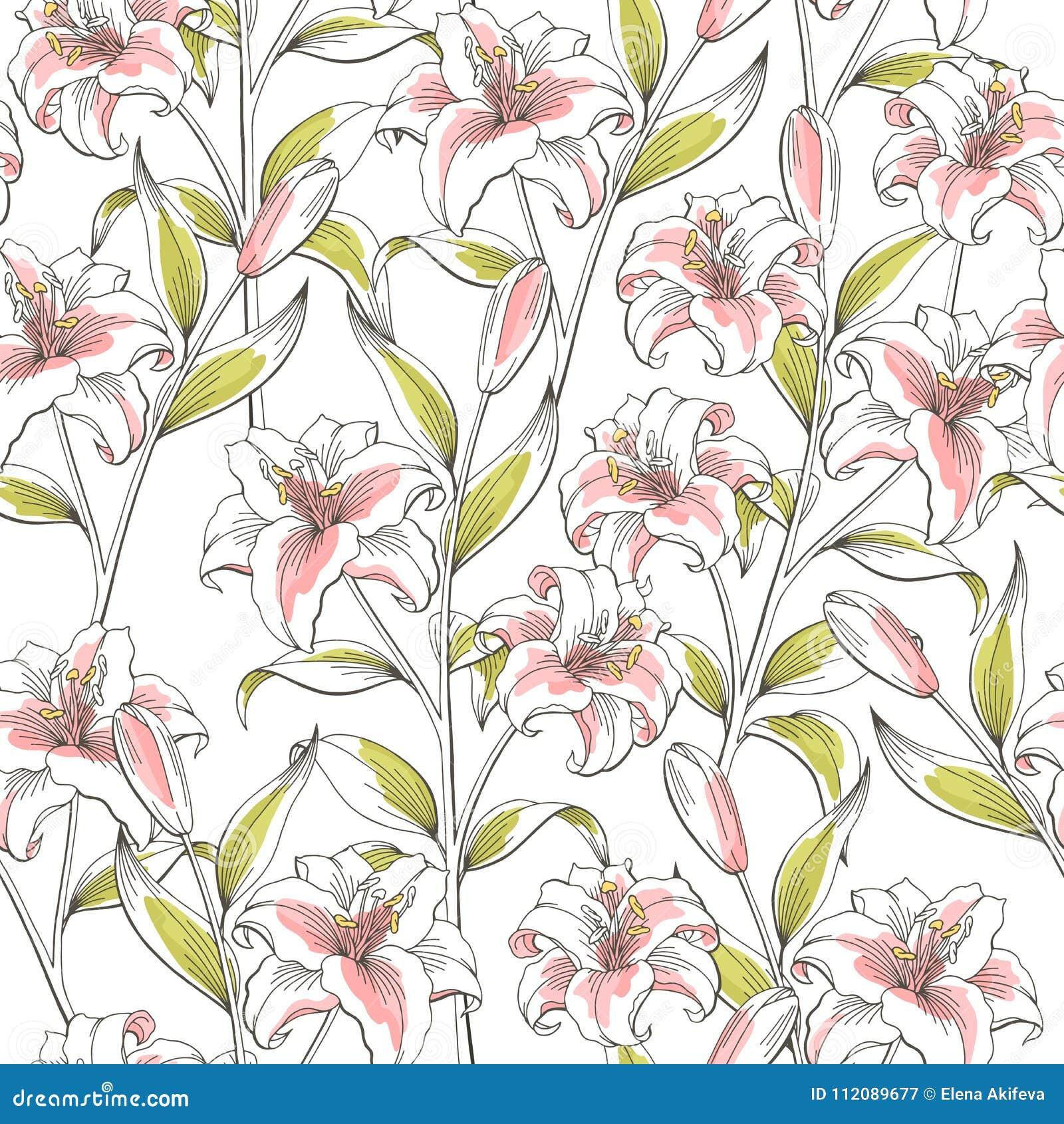 Vecteur Sans Couture Rose Graphique D Illustration De Croquis De