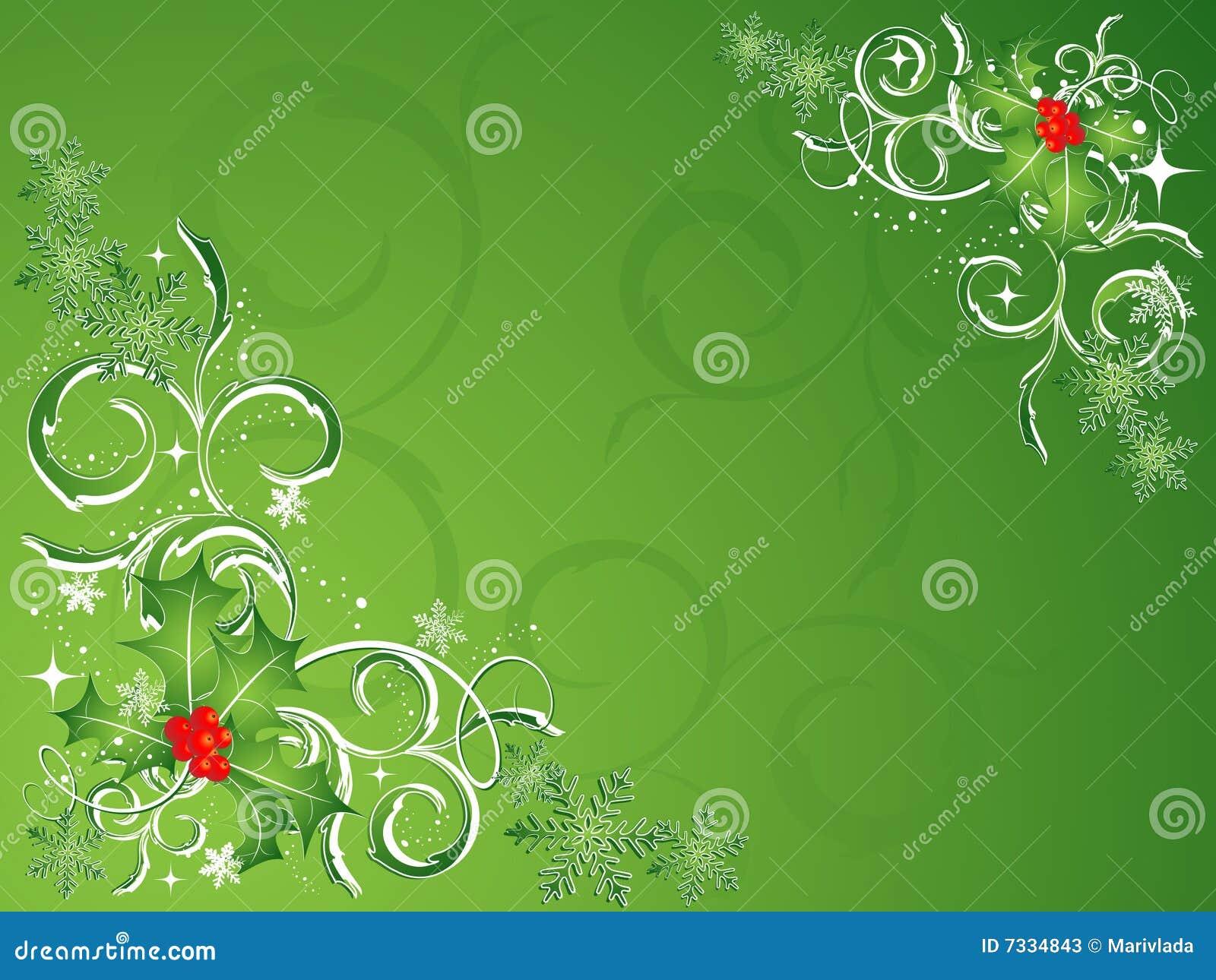 Vecteur vert de Noël
