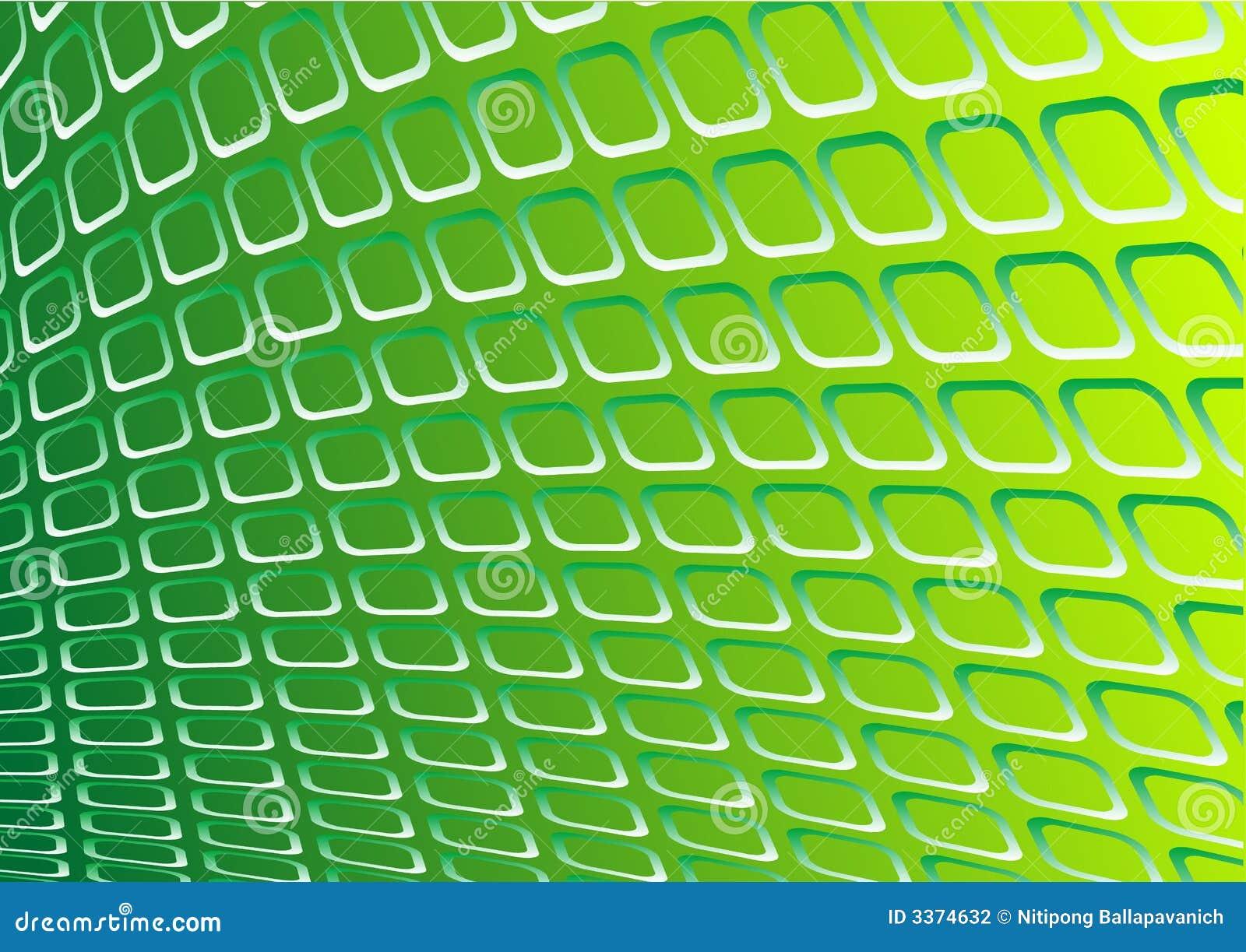 Vecteur vert en métal 3d