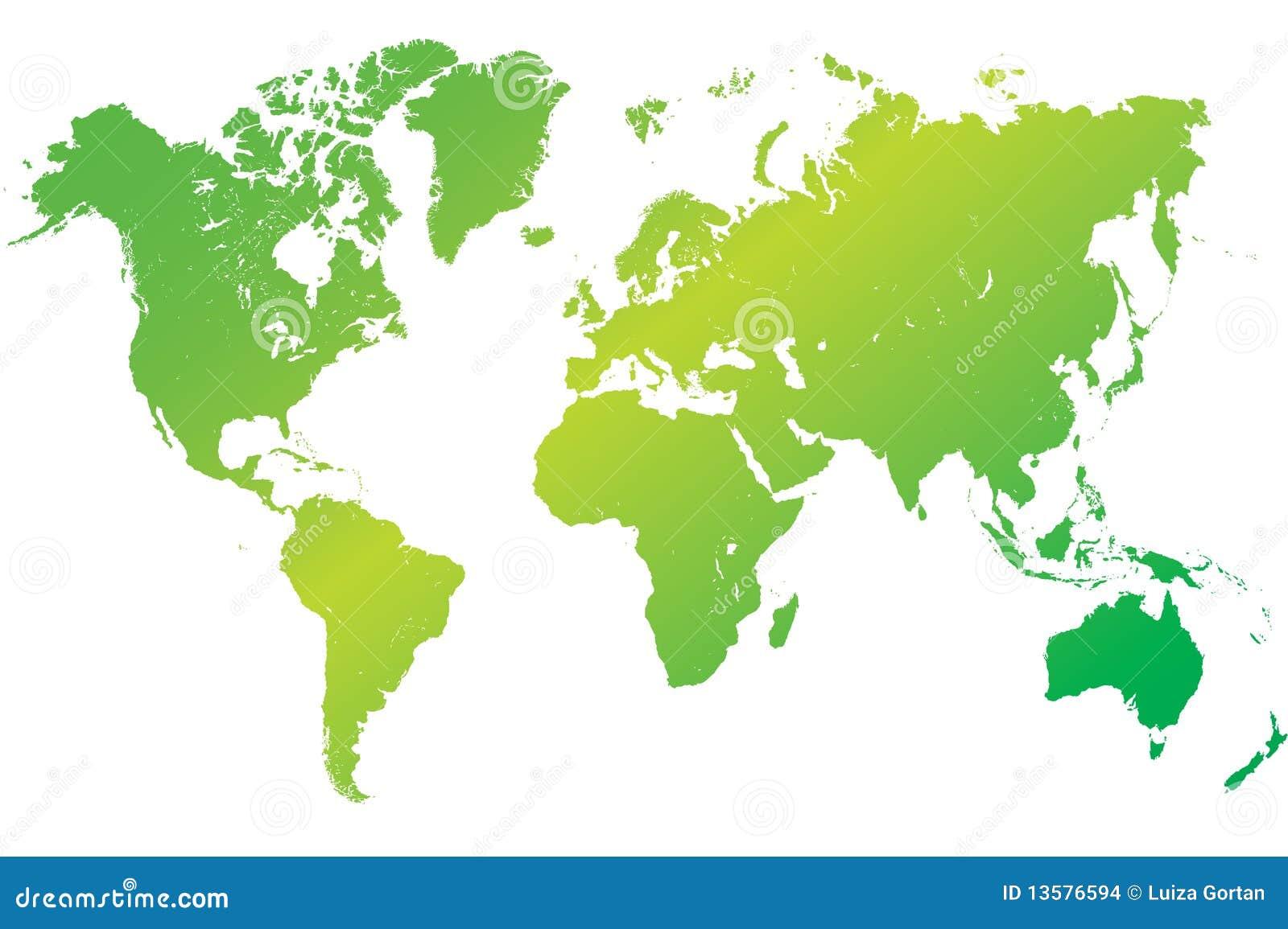 Carte Australie Canada.Vecteur Vert Fortement Detaille De Carte Du Monde
