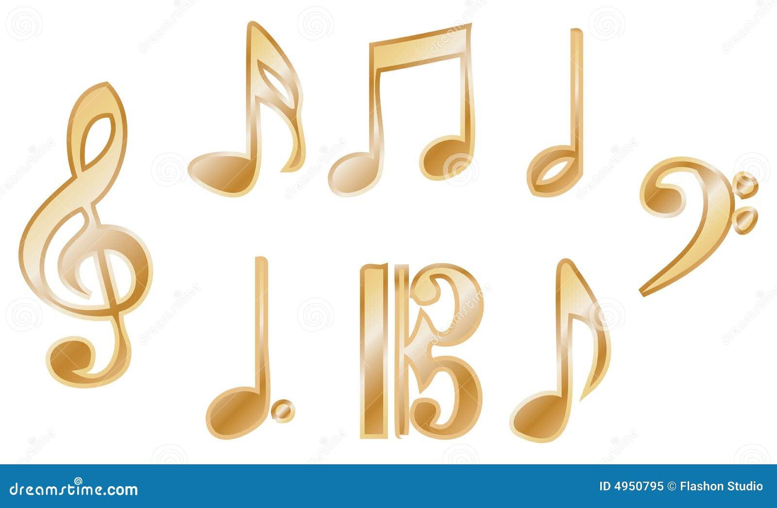 Vecteurs métalliques de notation de musique