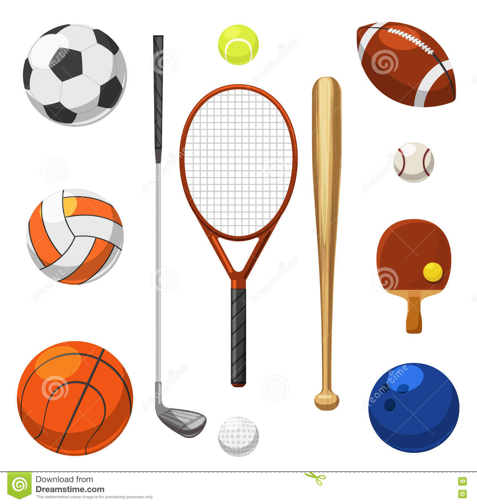 c15e48afa Vector ícones do equipamento de esporte Artigos dos exercícios dos esportes