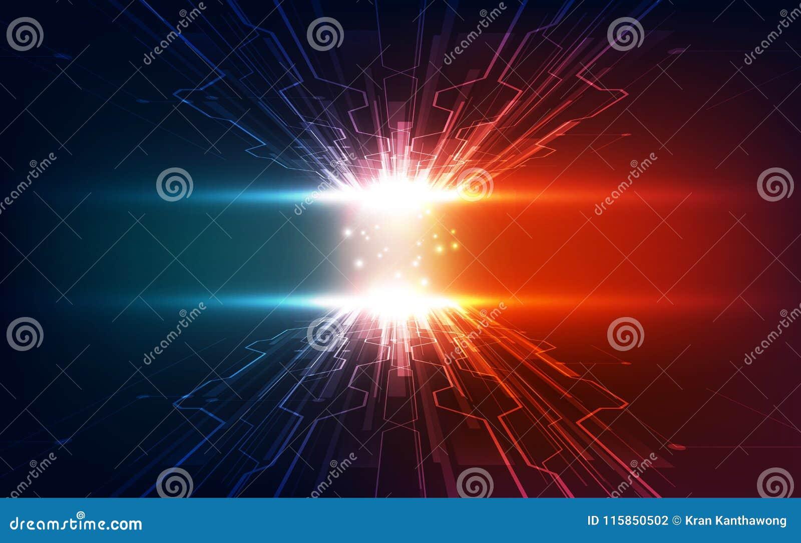 Vector абстрактный футуристический быстрый ход, цвет сини цифровой технологии иллюстрации высокий