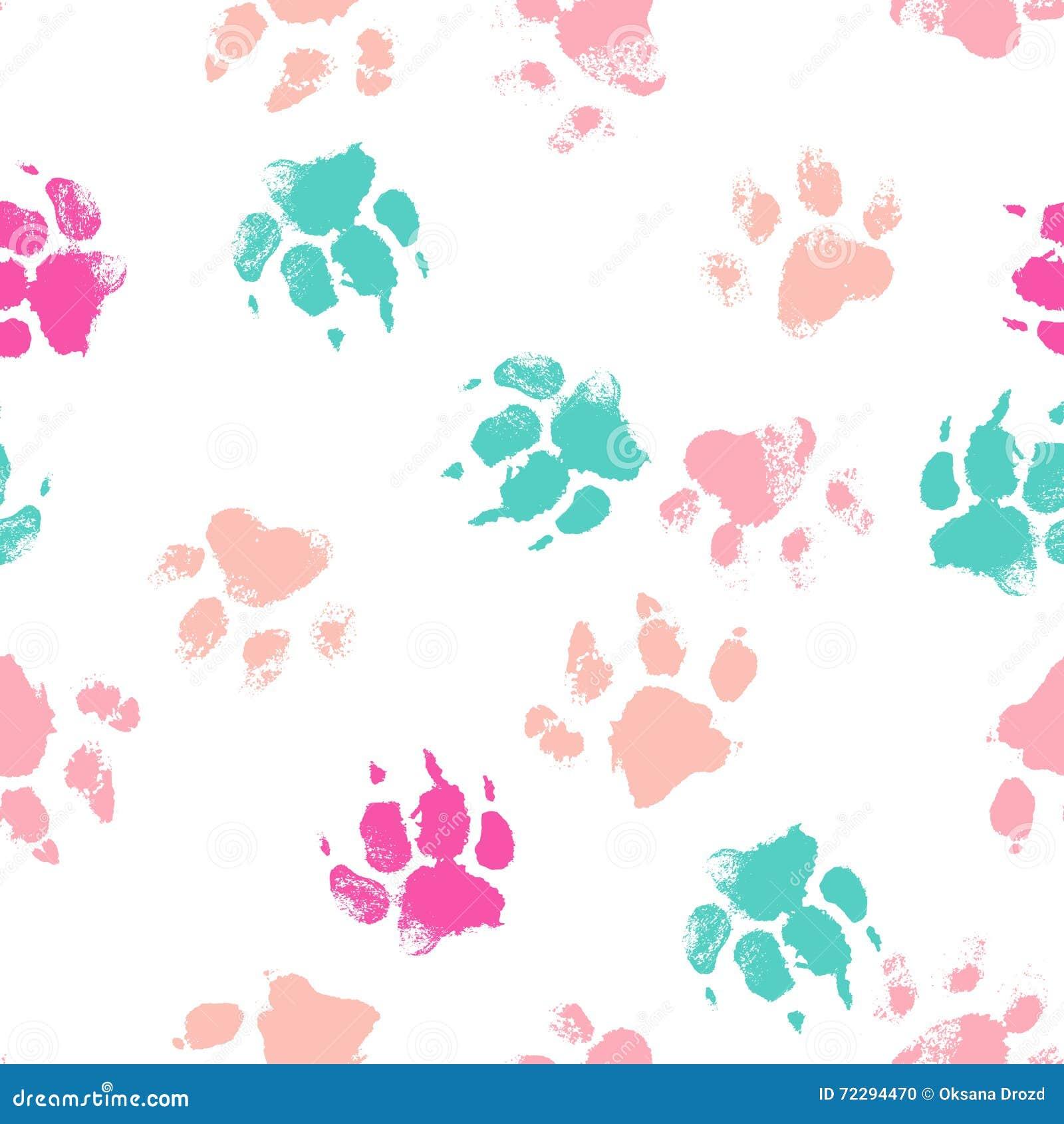 Download Vector безшовная картина с следами ноги лапки собаки Иллюстрация вектора - иллюстрации насчитывающей нога, форма: 72294470