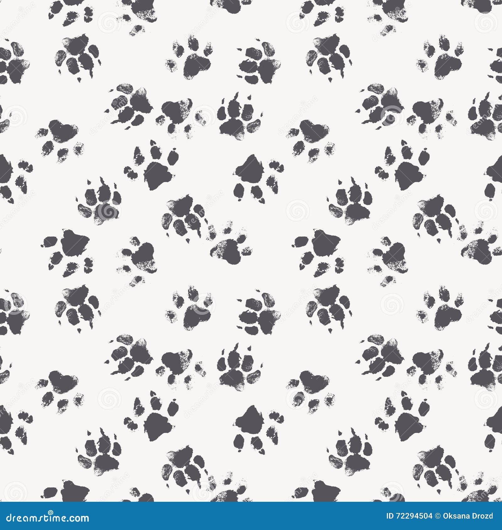 Download Vector безшовная картина с следами ноги лапки собаки Иллюстрация вектора - иллюстрации насчитывающей наконечников, краска: 72294504