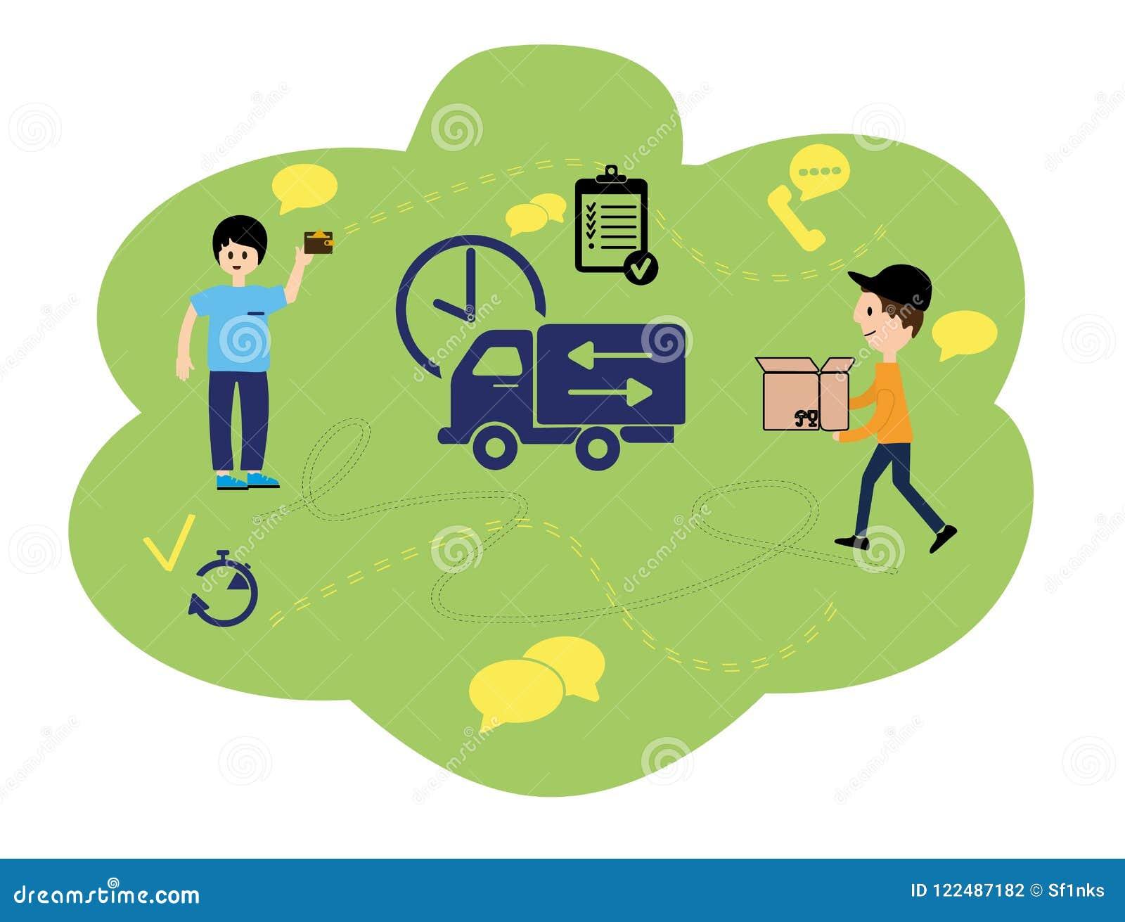 Vector иллюстрация, плоский стиль, различные магазины, скидки, приобретение товаров и подарки, концепция приобретения и голодайте