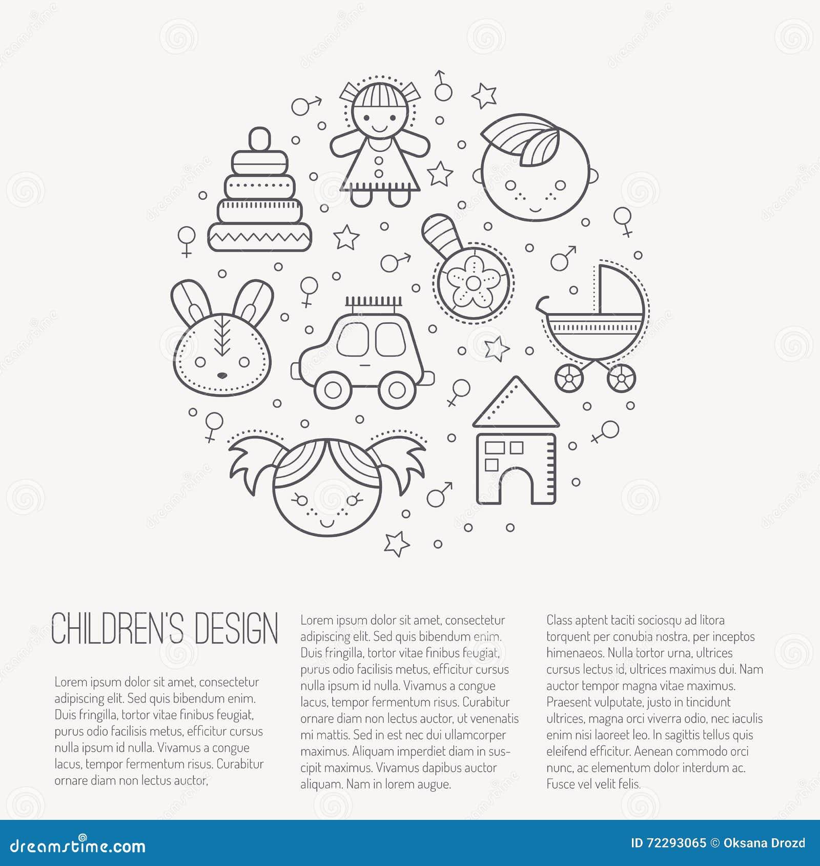 Download Vector иллюстрация при значки законспектированных детей формируя круг Иллюстрация вектора - иллюстрации насчитывающей иллюстрация, контур: 72293065