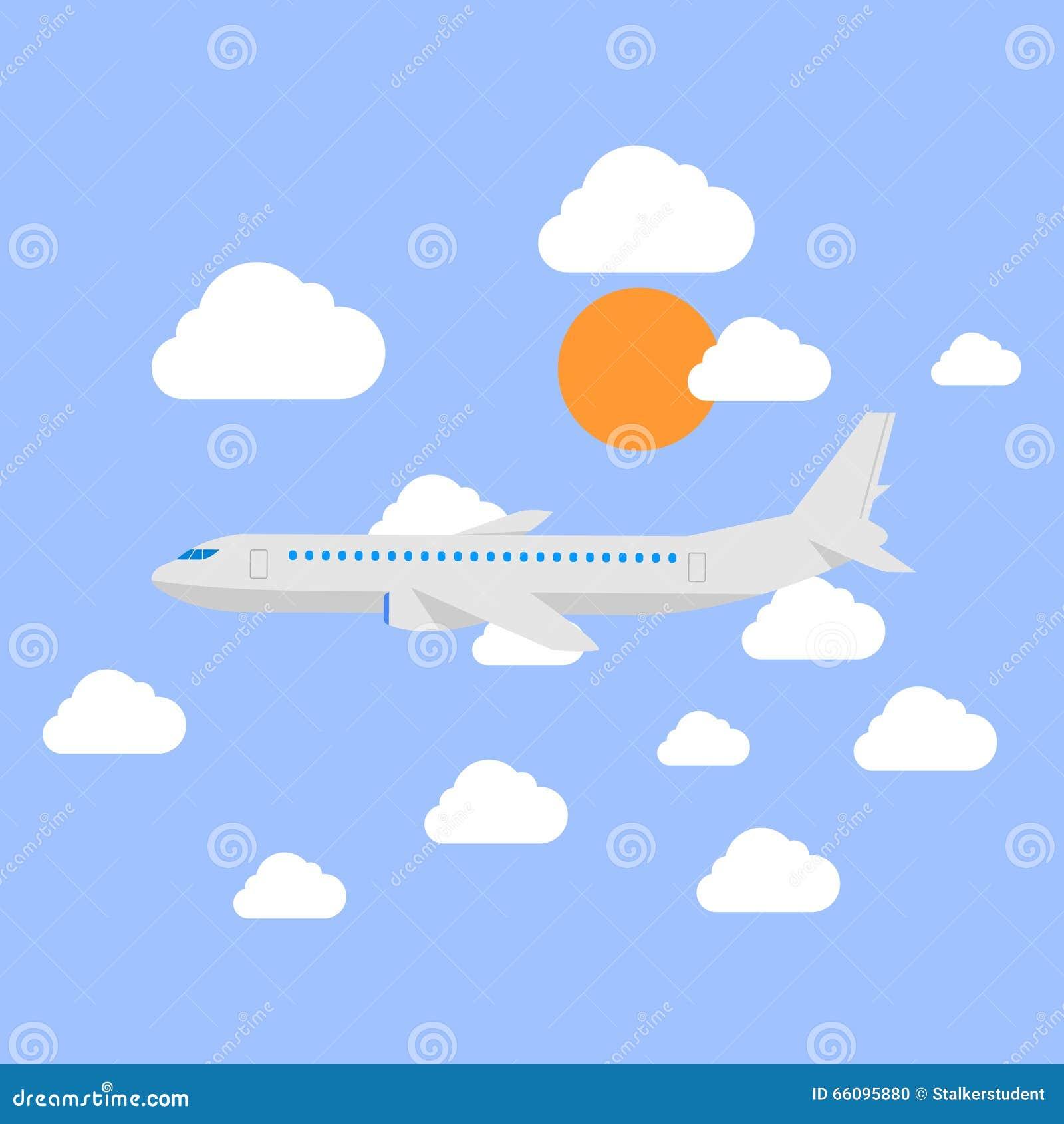 Картинки для детей самолеты летят сквозь облака, добрым