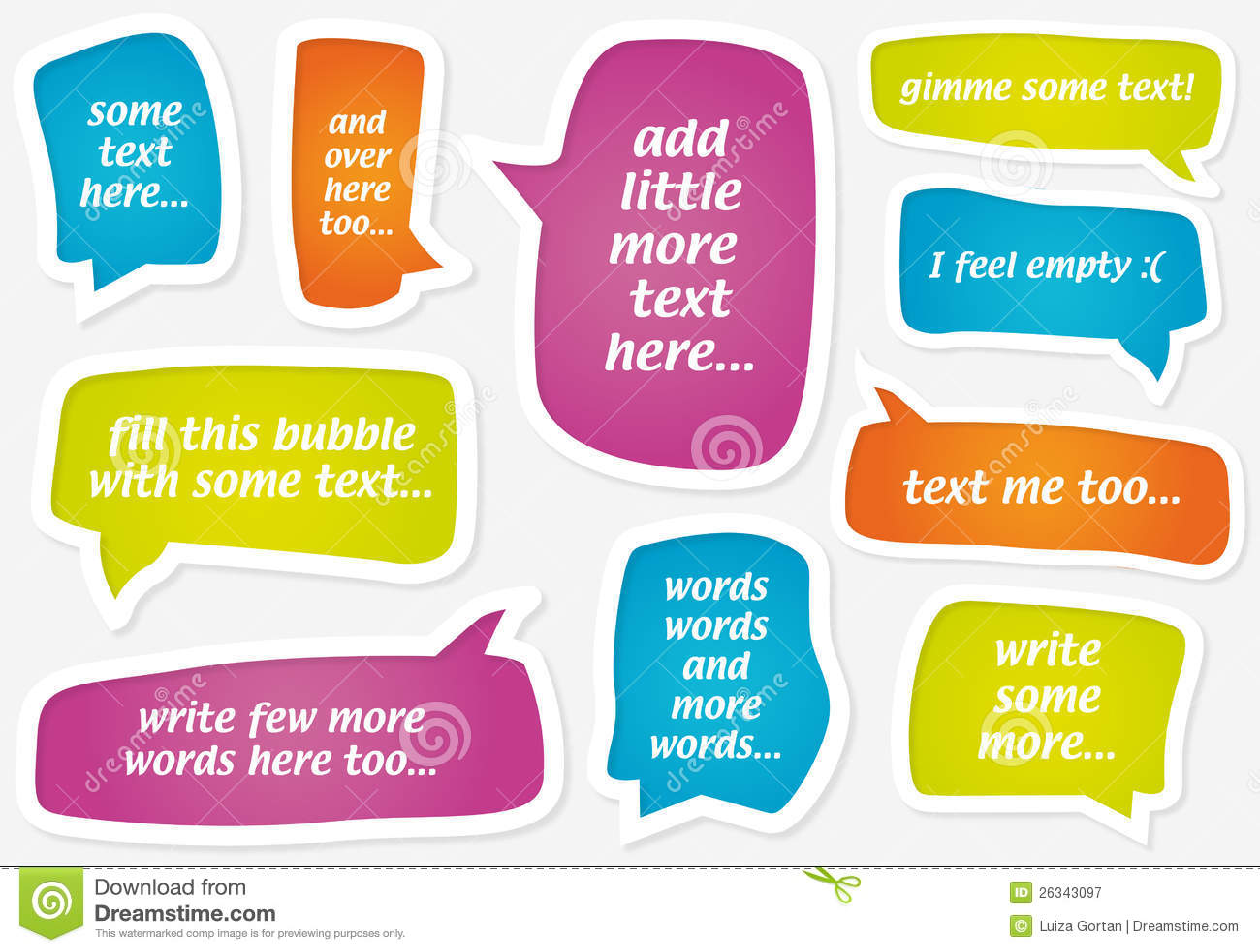 Vector пастельные пузыри речи