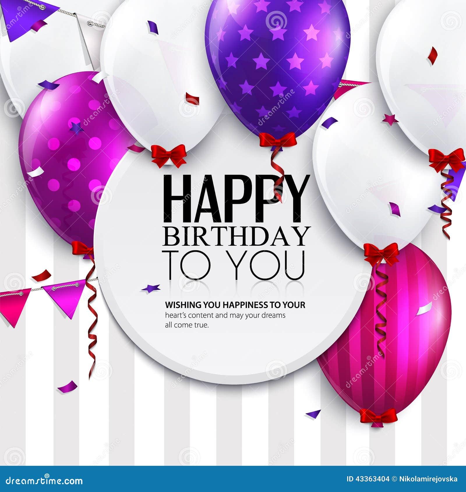 Vector поздравительая открытка ко дню рождения с воздушными шарами и флагами овсянки на предпосылке нашивок