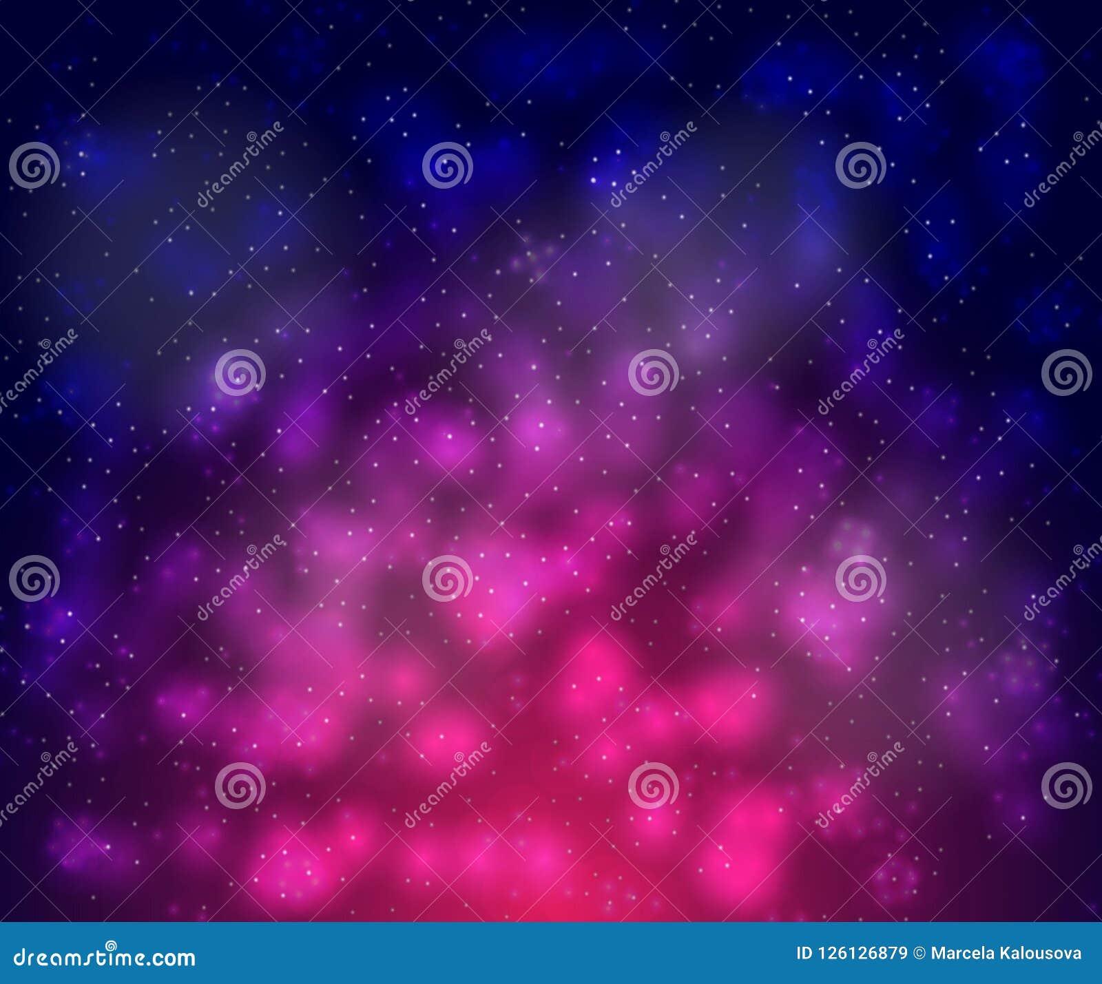 Vector предпосылка безмерного пространства с звездами, галактиками, межзвёздными облаками яркие пятна и помарки масла с белыми то