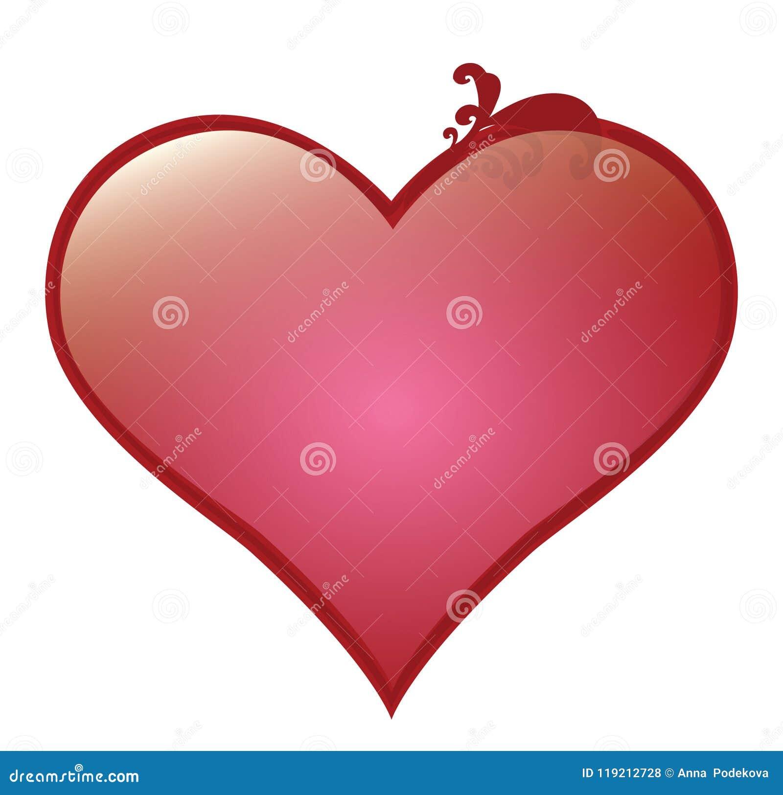 Vector сердце для поздравительных открыток валентинки Святого и романтичной влюбленности