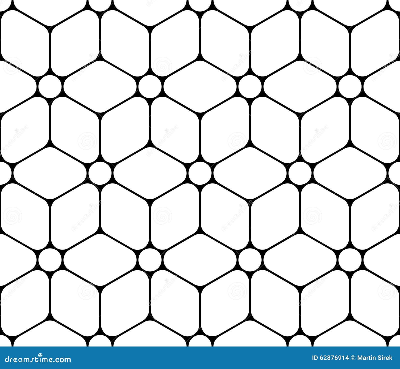 Vector современный безшовный священный цветок картины геометрии жизни, черно-белого конспекта