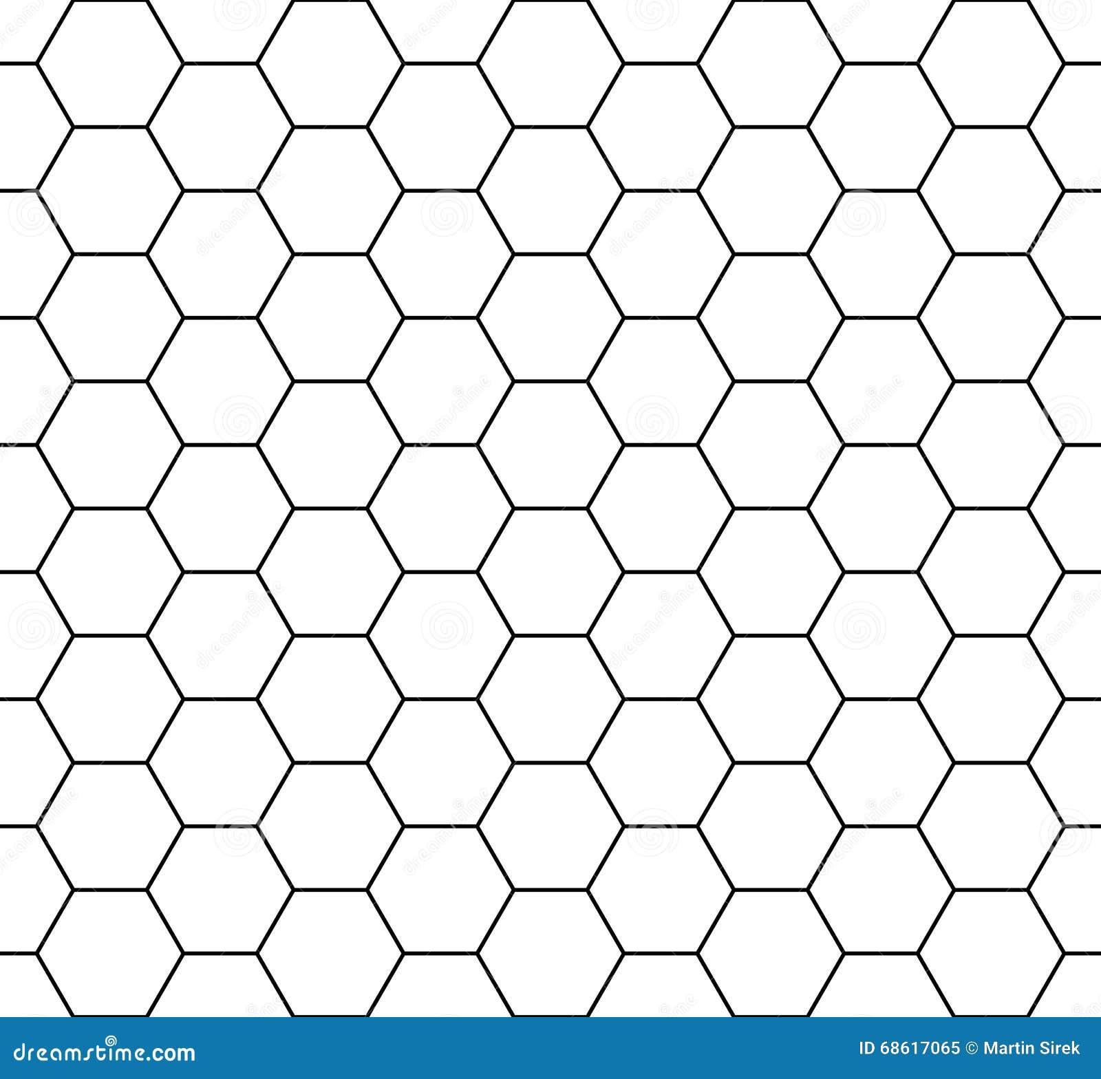 Vector современный безшовный шестиугольник картины геометрии, черно-белый конспект сота