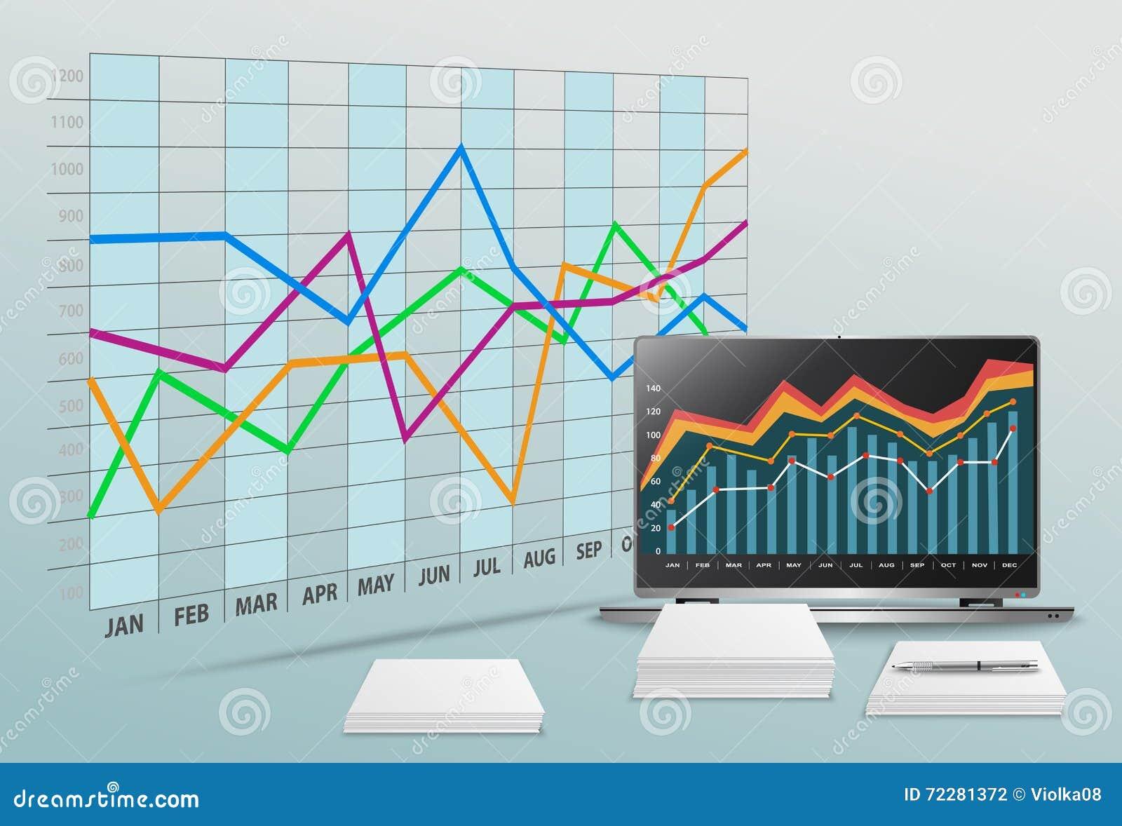 Download Vector современный офис с коммерческими информациями и финансовым учетом Стоковое Фото - изображение насчитывающей вкладчик, рынок: 72281372
