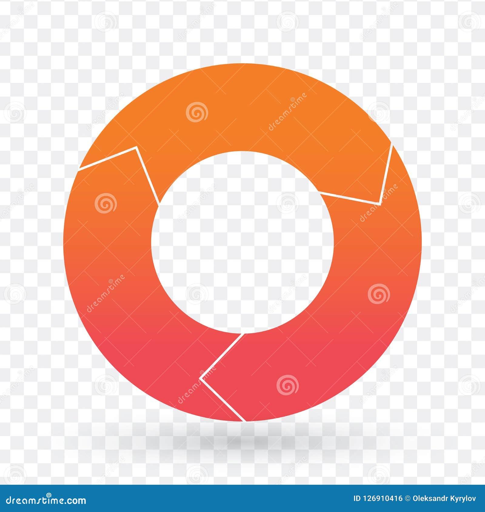 Vector шаблон долевой диограммы для диаграмм, диаграмм, диаграмм Концепция делового круга infographic с 3 вариантами, частями, ша