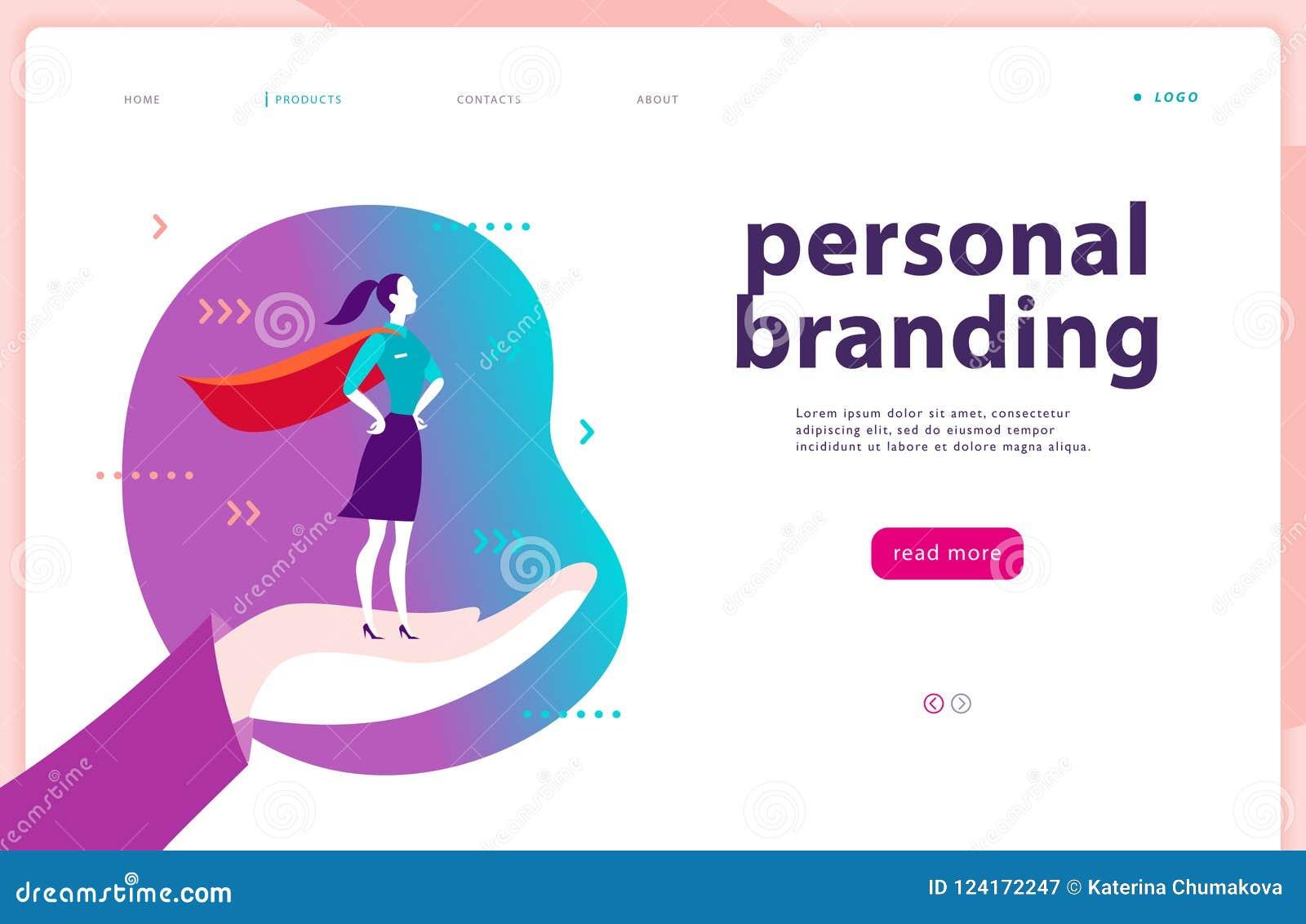 Vector шаблон интернет-страницы - личный клеймить, деловое сообщество, советовать с, планируя Дизайн страницы посадки