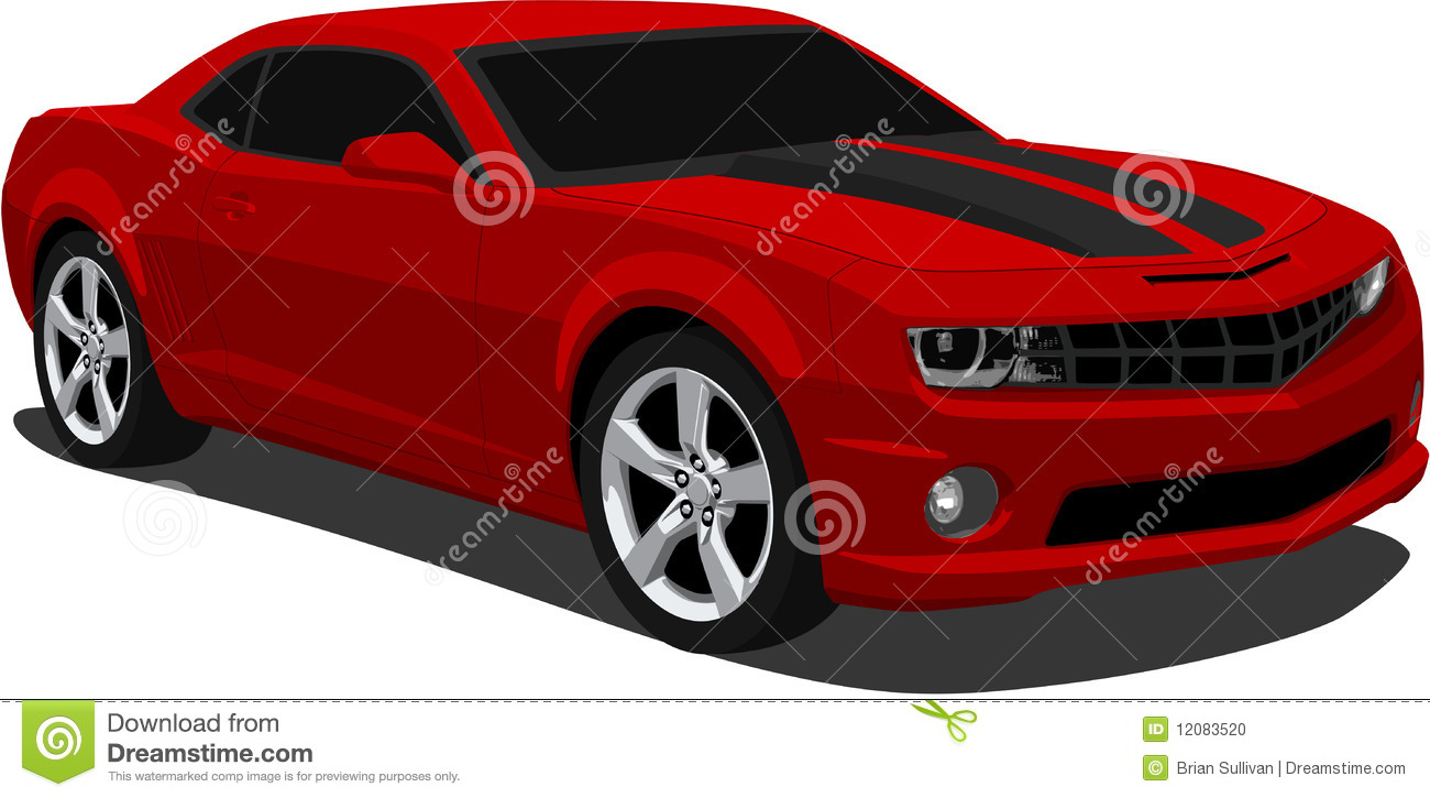 Vector illustration of a 2009 Camaro Sports Car..eps saved in layers ...