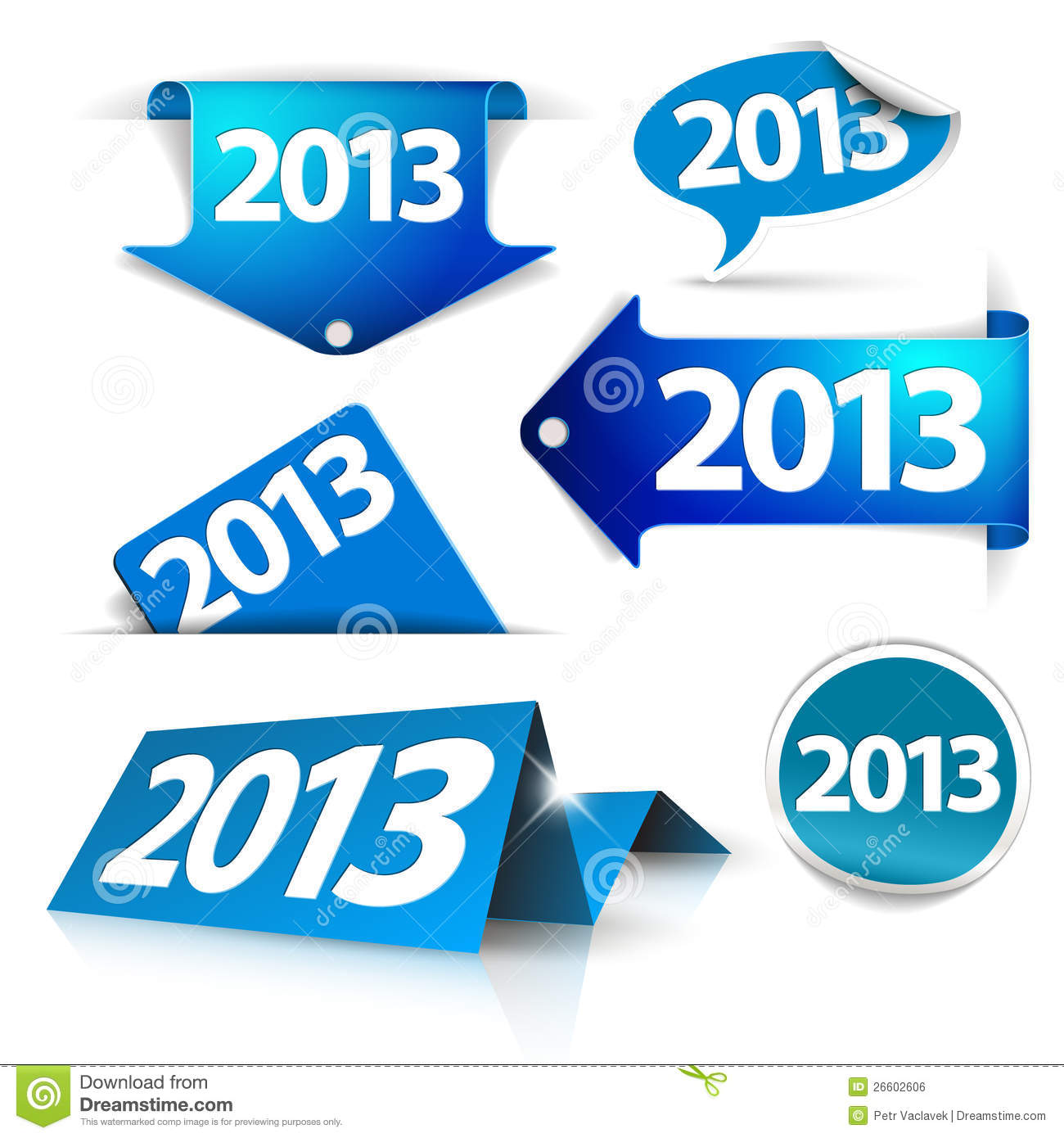 Vector 2013 Labels, stickers, pointers, tags