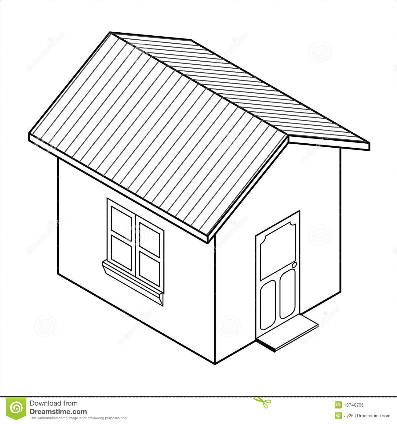 Vector 3d house icon vector stock vector image 10740706 3d house drawing