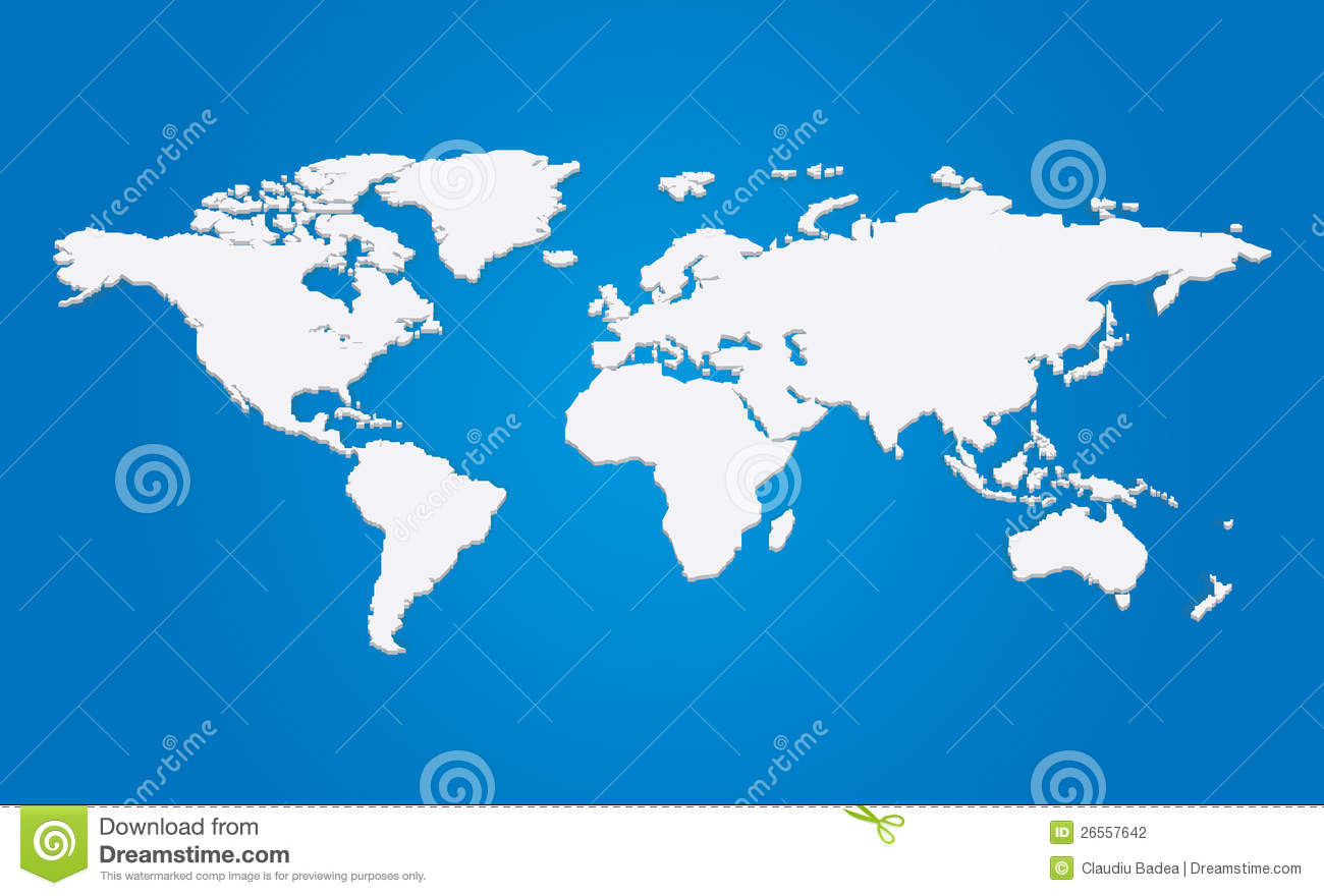Vector 3d world map stock vector illustration of cartography vector 3d world map royalty free stock photo gumiabroncs Gallery