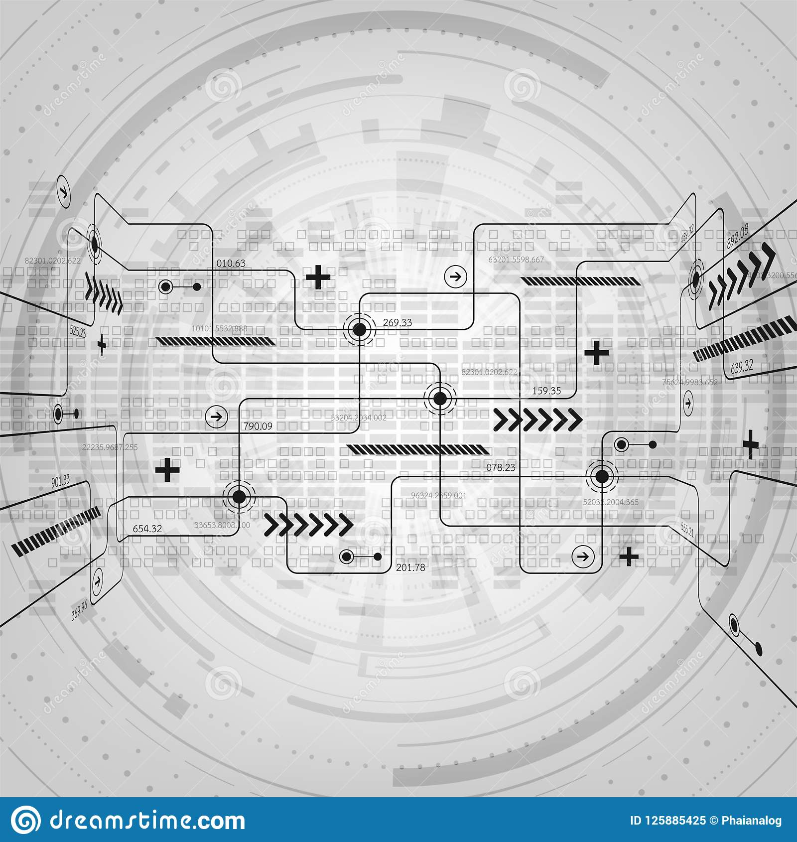 Vector Abstract Background Technology Electronic Circuit Design ...