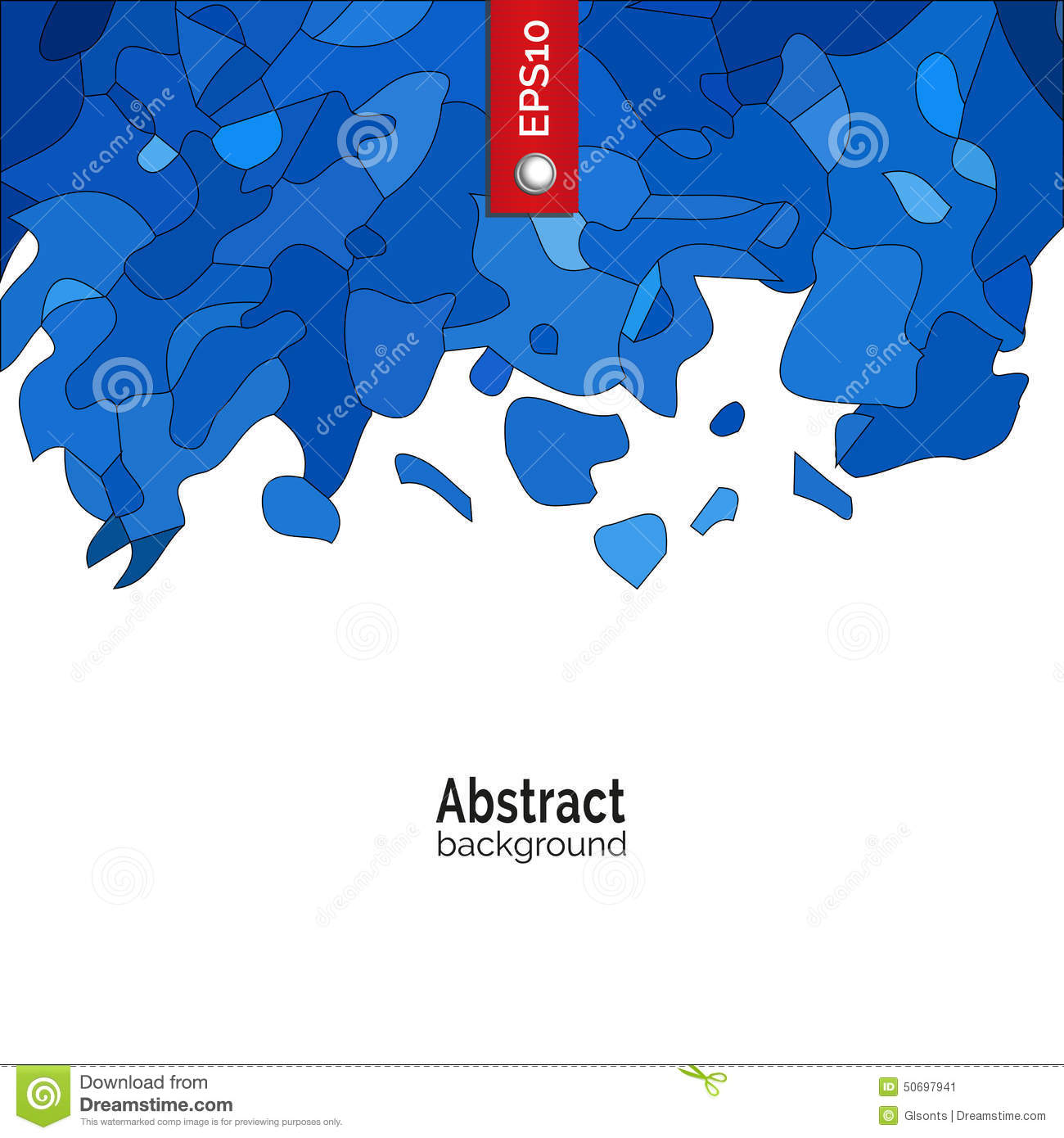 Template For Corporate Identity, Advertising, Poster, Event In Blue Color.  Advertising Poster Templates